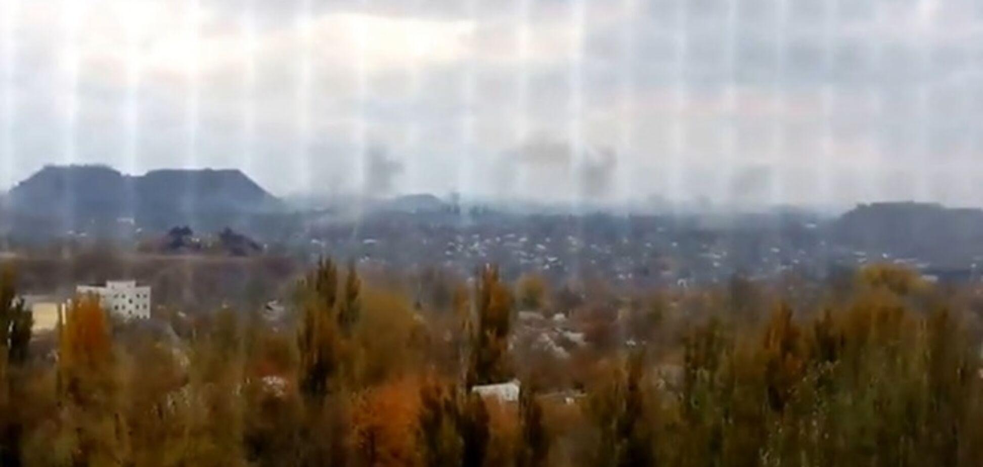 Появилось видео обстрелов террористами Донецка из 'Градов'
