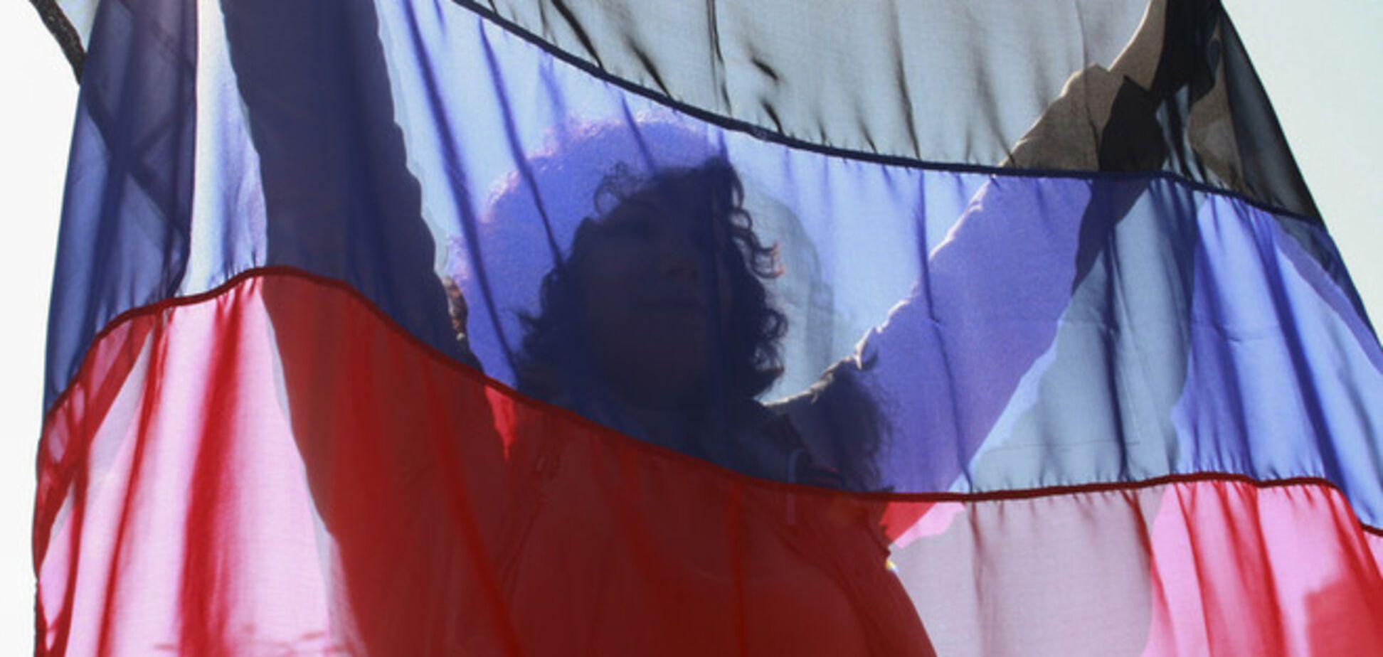 Террористы в Донецке 'отметили' день 'флага ДНР'