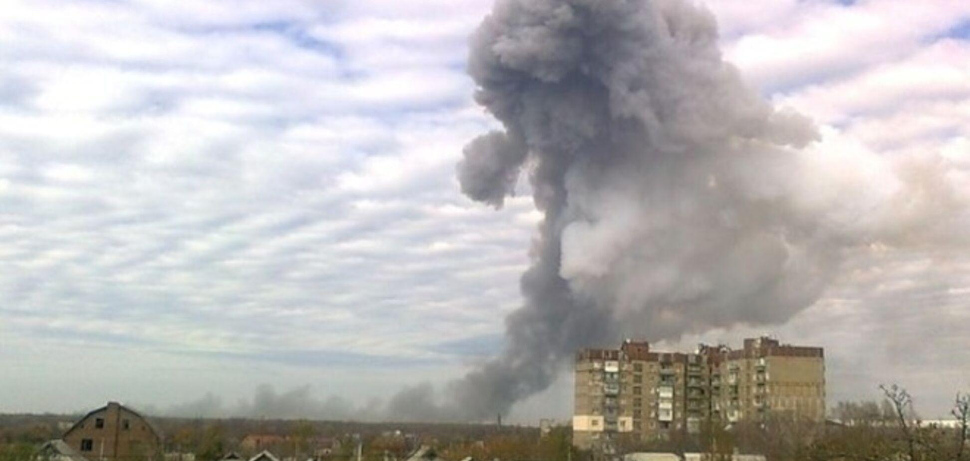 Террористы проиллюстрировали взрыв в Донецке видеозаписью падения ракеты на Байконуре