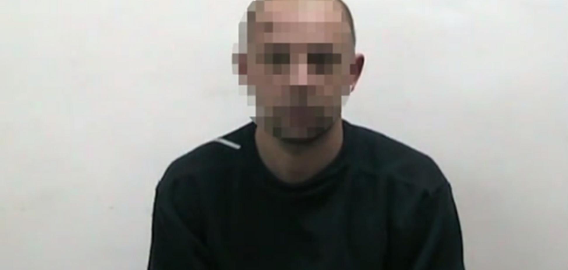 В СБУ сняли на видео признание работавшего на разведку РФ украинца