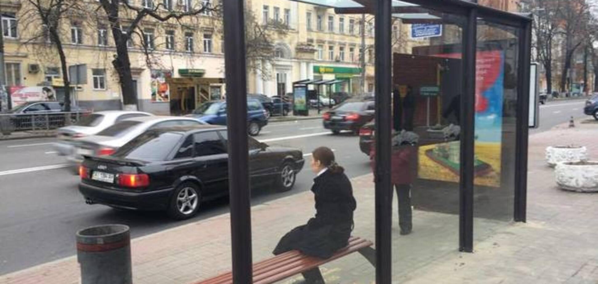 Киевляне раскритиковали стеклянные 'европейские остановки'