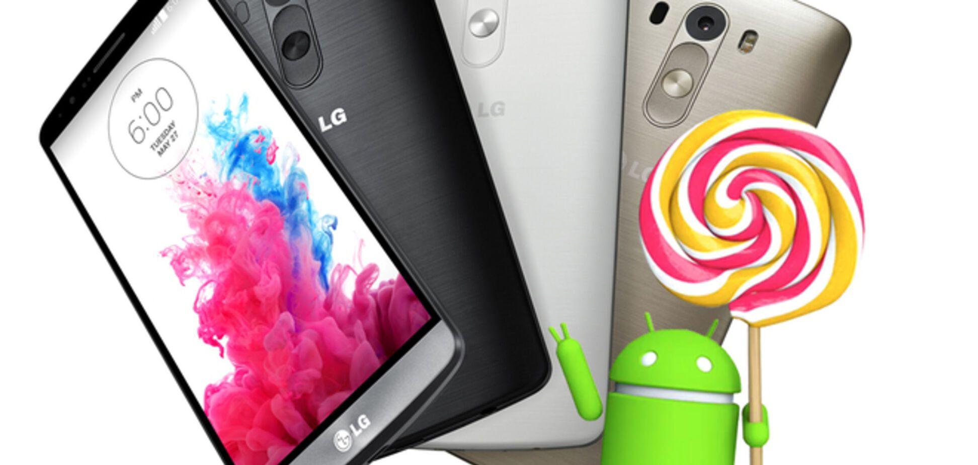 LG первой обновит свои смартфоны до Android 5.0 Lollipop