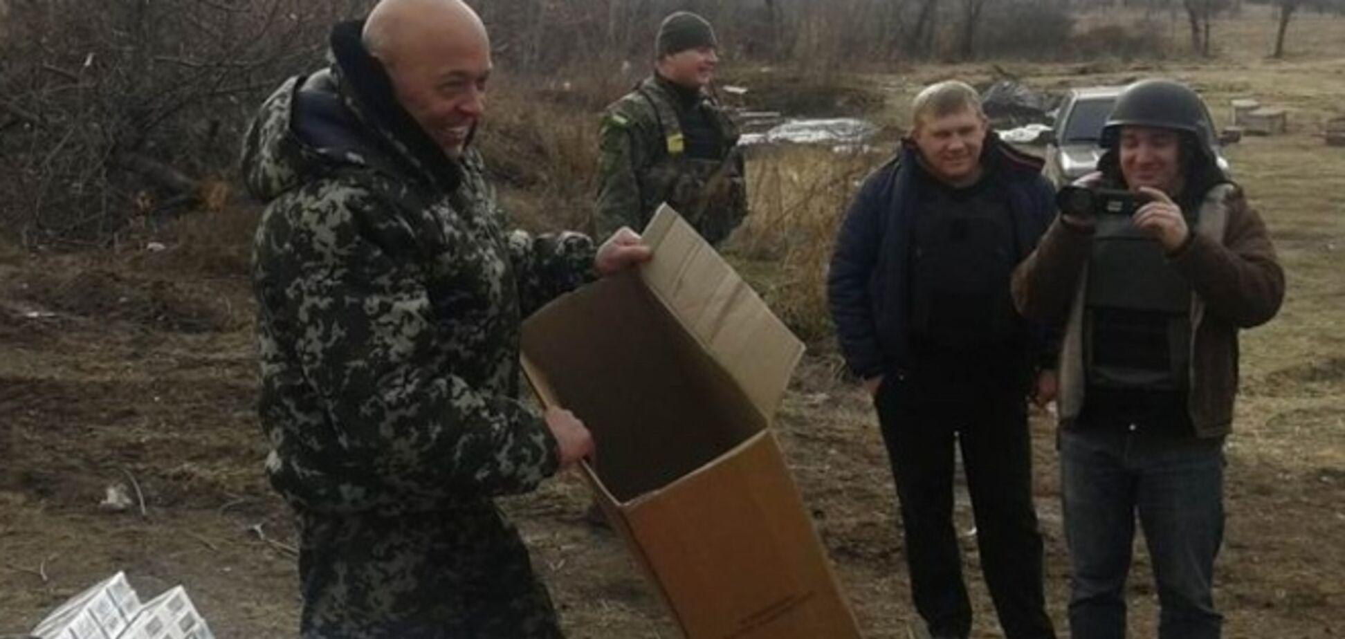 На Луганщине террористы обстреляли село во время раздачи гуманитарной помощи