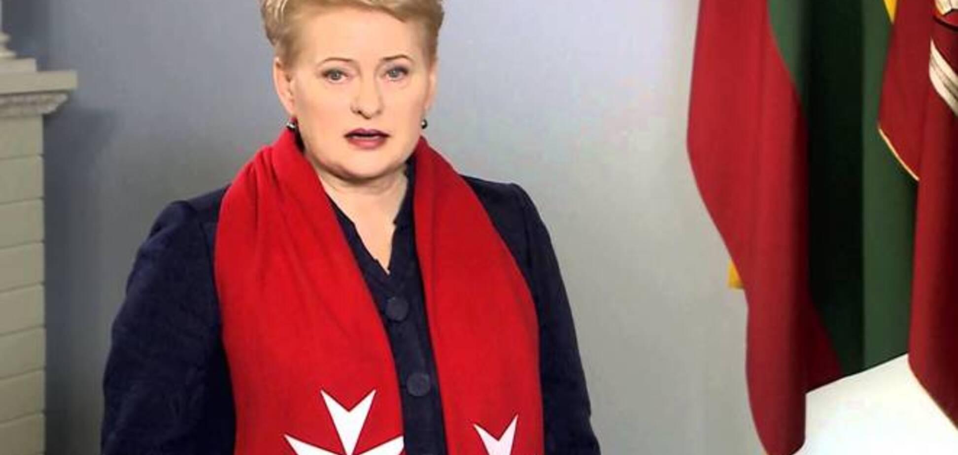 Грибаускайте повторно обвинила Россию в международном терроризме
