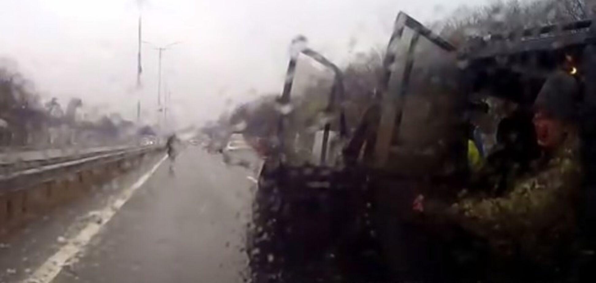 Милиция возбудила дело по беспределу якобы 'айдаровцев' на дороге под Киевом