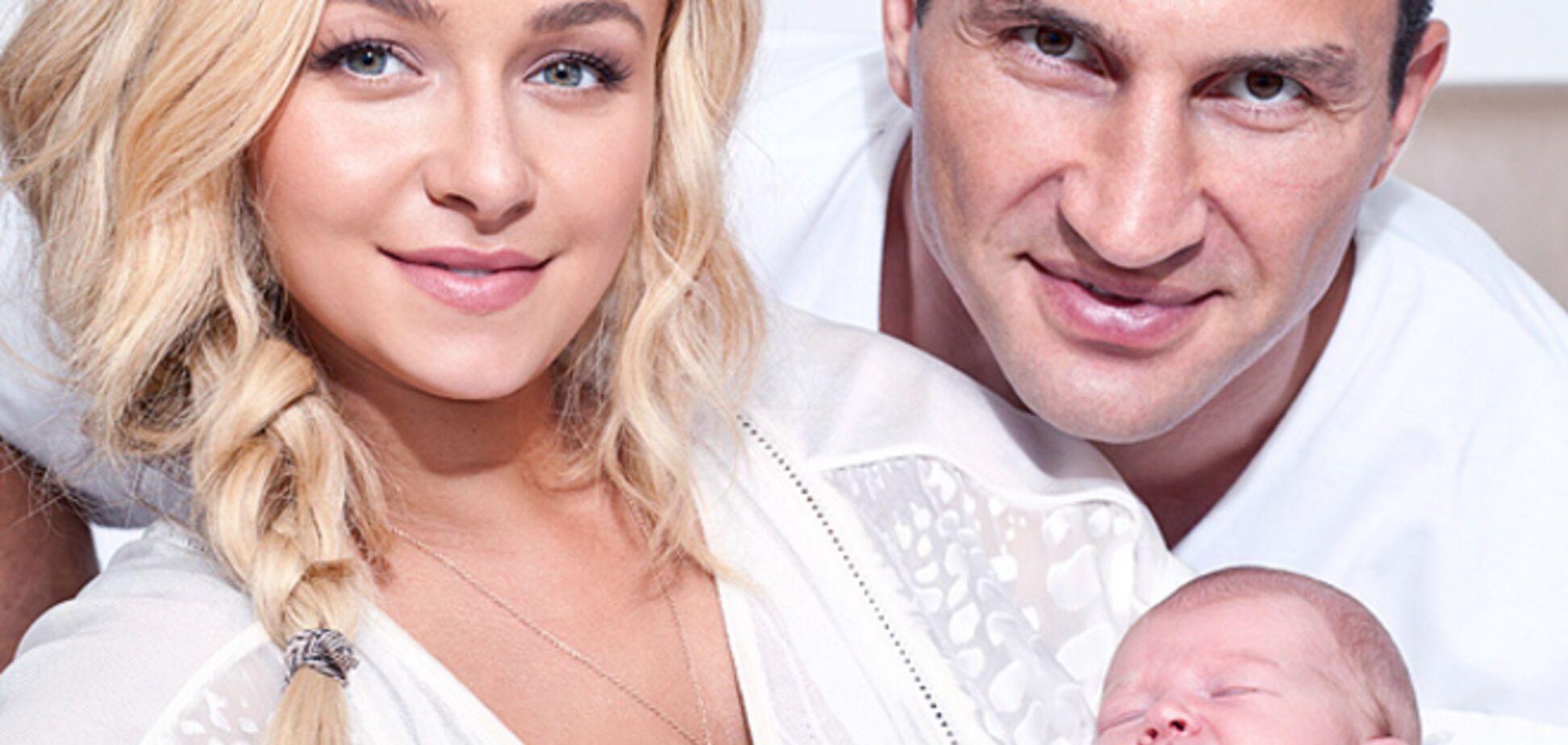 Новорожденная дочь Кличко стала звездой фотосессии