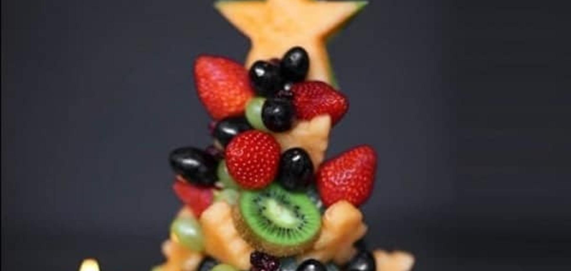 Фруктовая елка на Новый год: 7 идей праздничного угощения