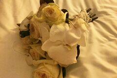 В сети появилось фото свадебного букета Жени Тимошенко