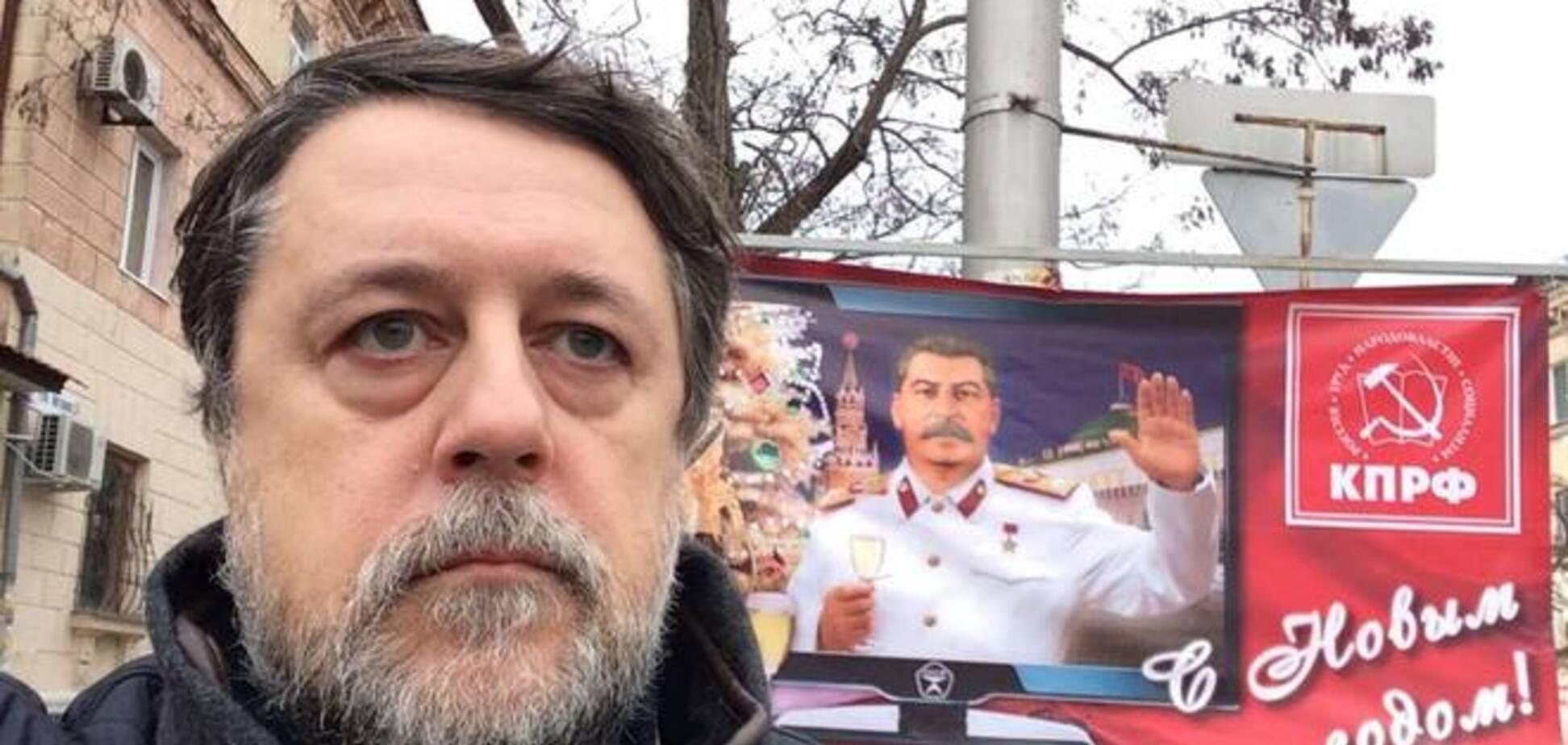 'Крымнаш' с Новым годом поздравляет Сталин: фото из Севастополя