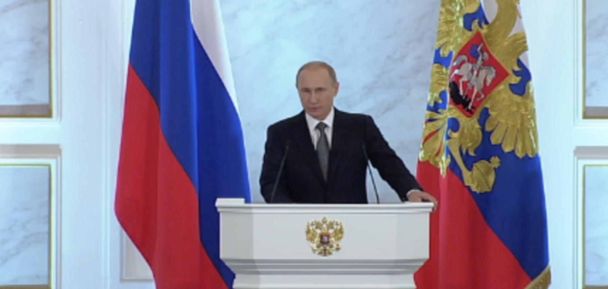 Путин завел старую песню о 'госперевороте в Украине', назвав ее братской страной