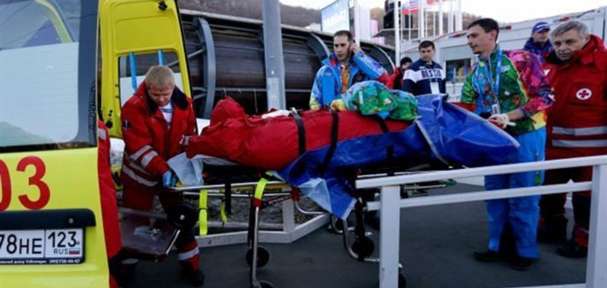 Сочи-2014. Боб организаторов сбил волонтера на олимпийской трассе