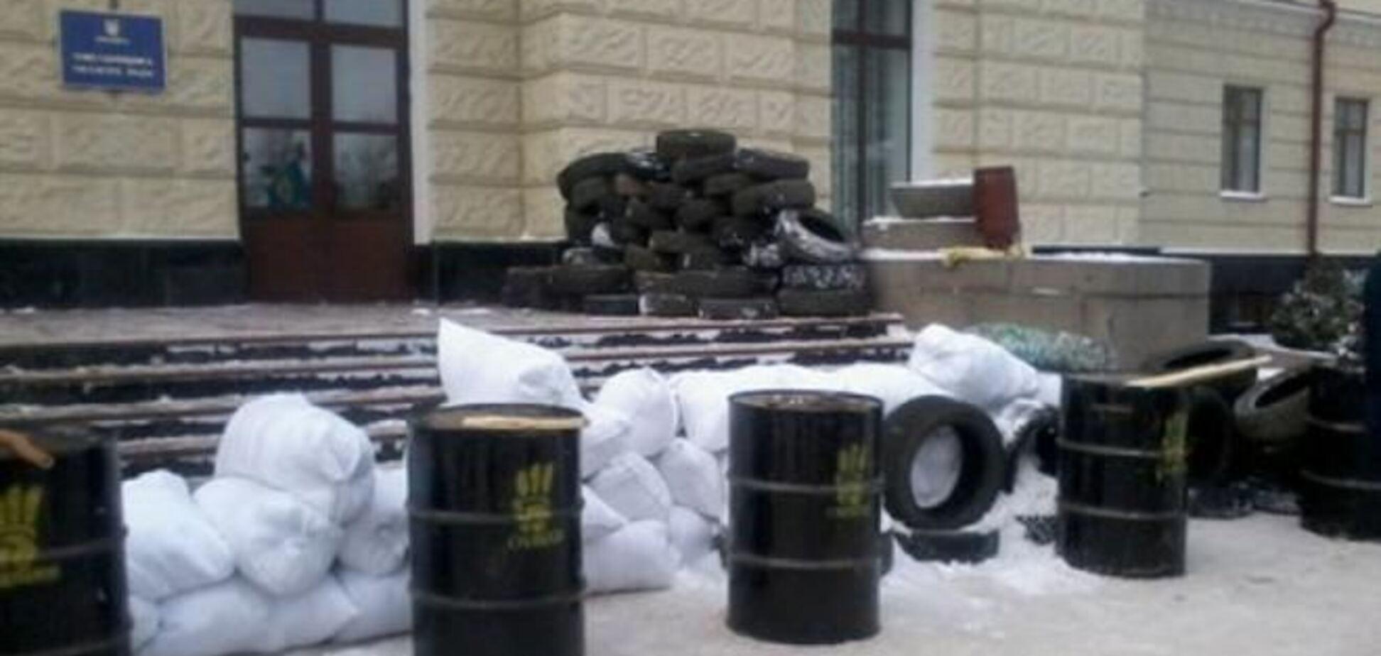 Хмельницьку ОДА захопили протестувальники