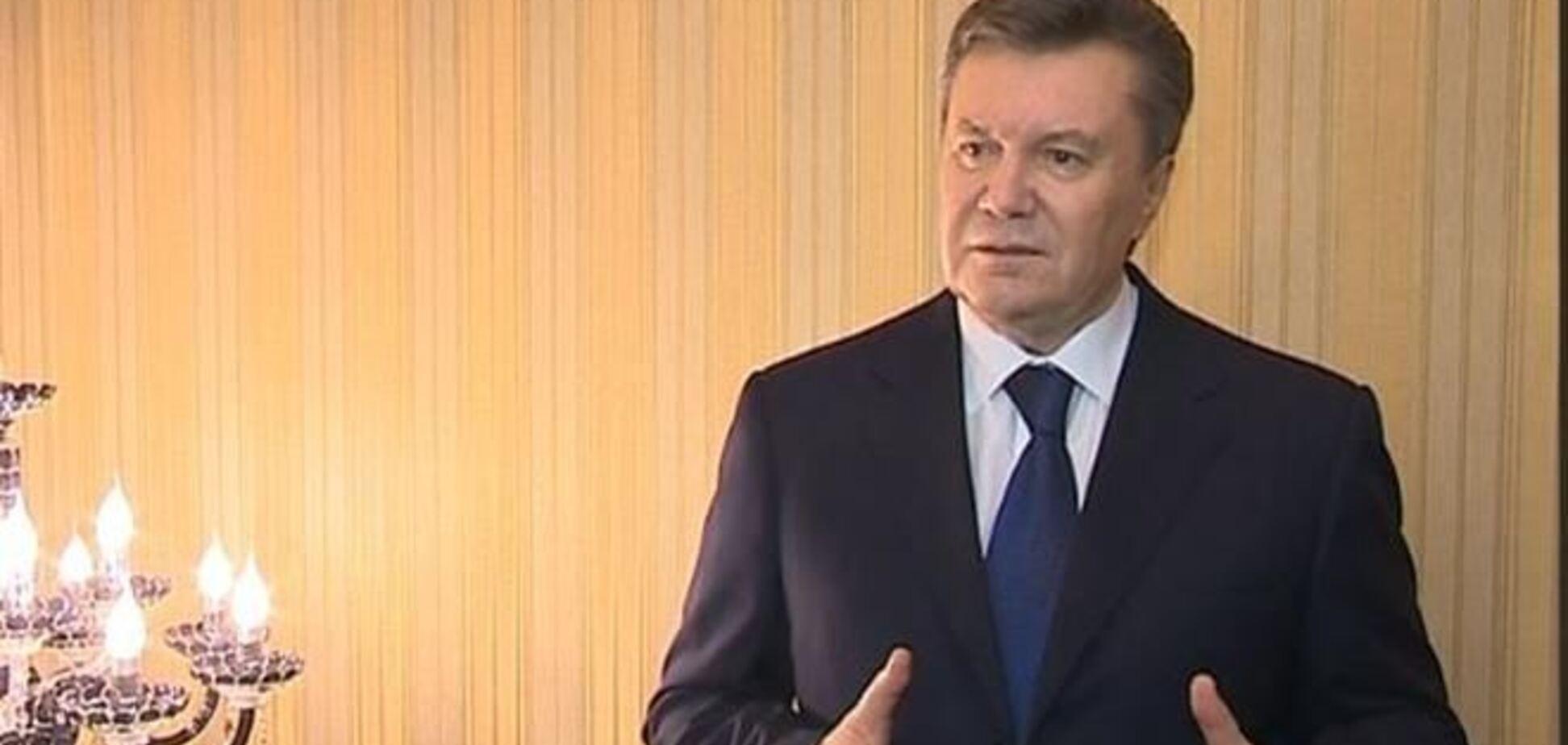 Янукович отказался идти в отставку. Полное видео заявления Януковича
