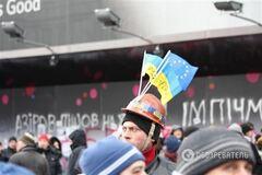 К Печерской РГА движется колонна митингующих