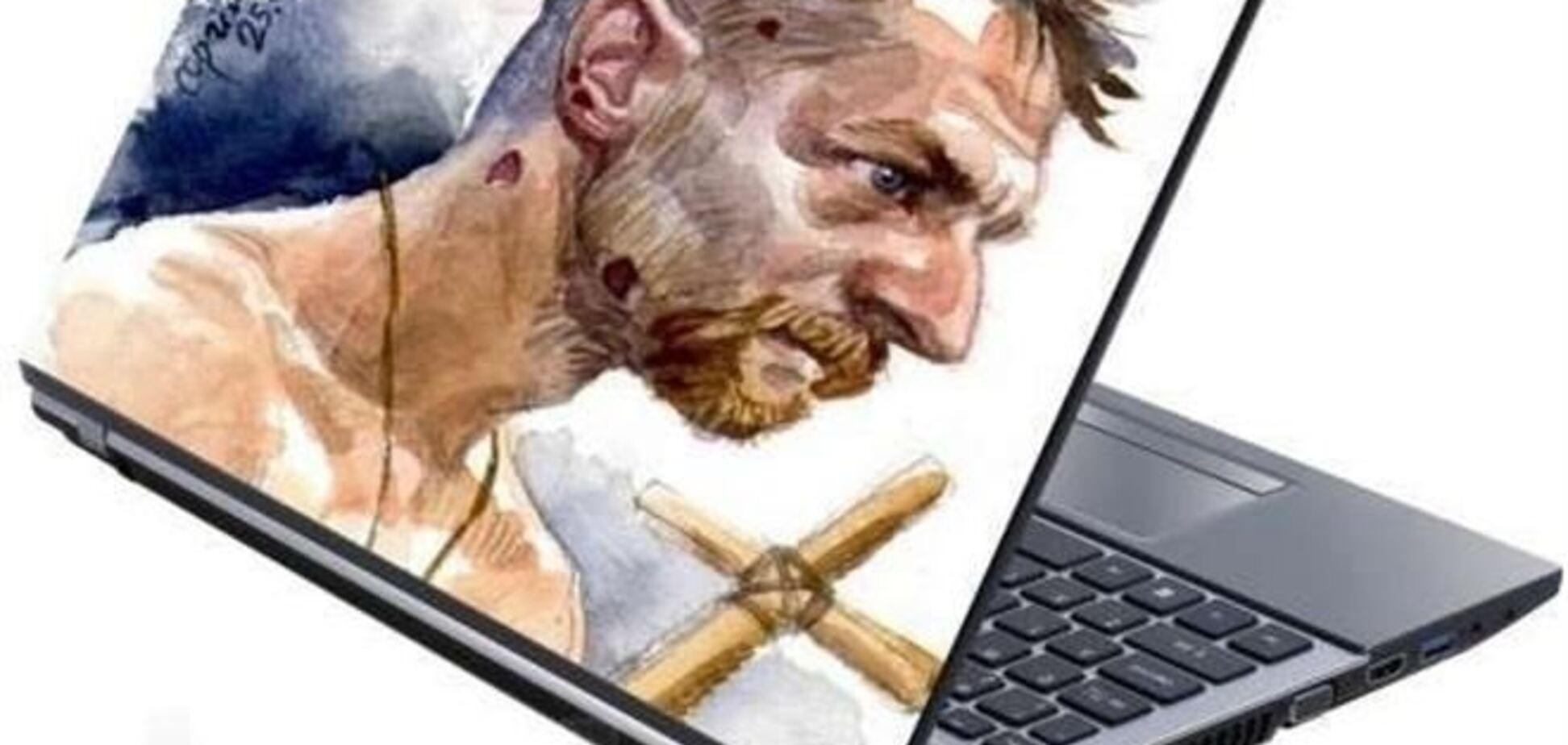 У мережі продають наклейки для ноутбуків з побитим 'Беркутом' козаком