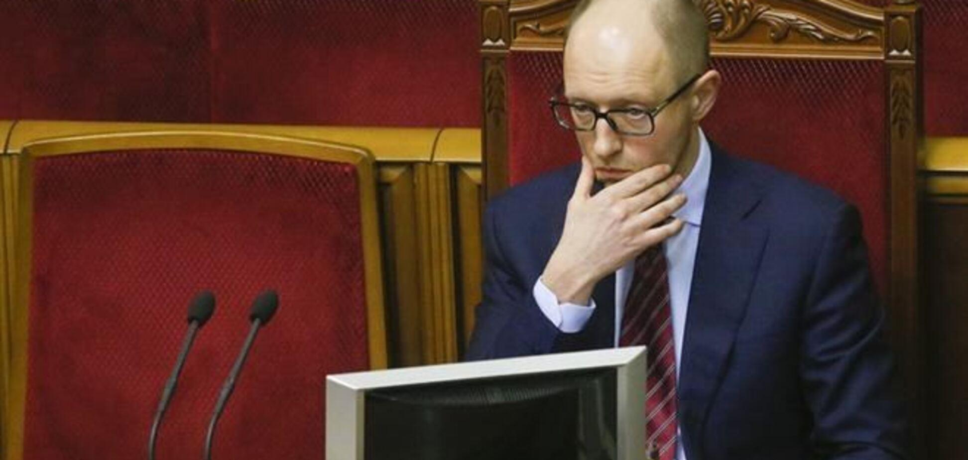 Яценюк пообещал не реагировать на провокации России в Крыму