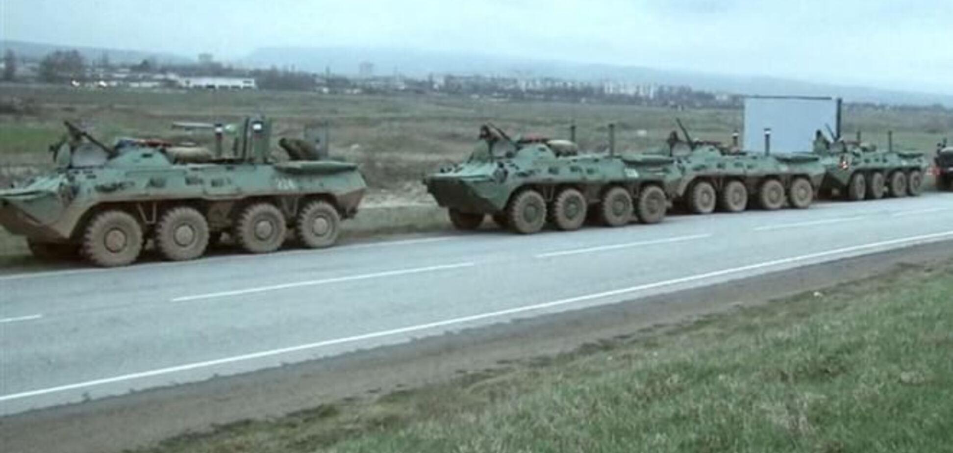По Запорожской области идет колонна российских войск - СМИ