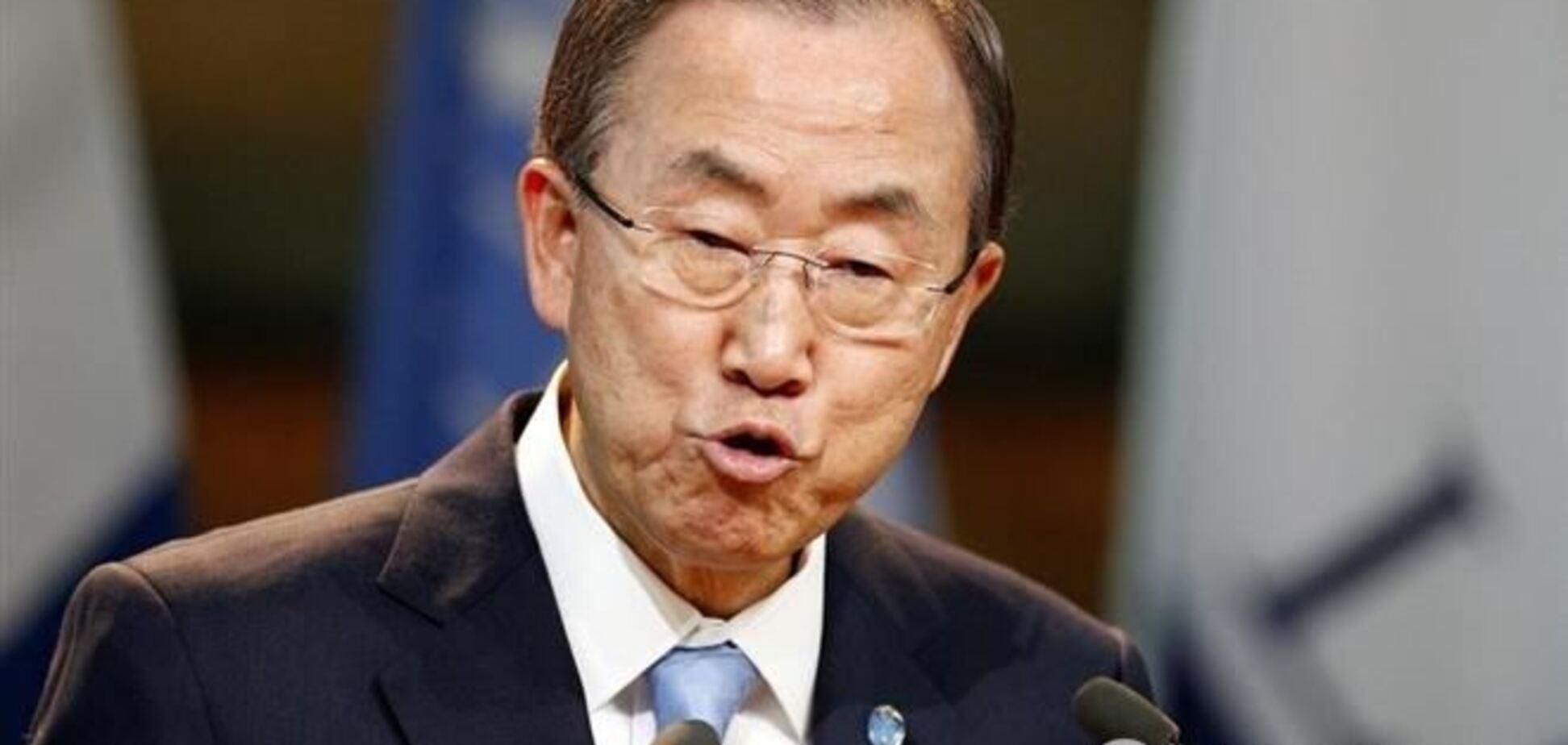 Генсек ООН призвал уважать территориальную целостность Украины