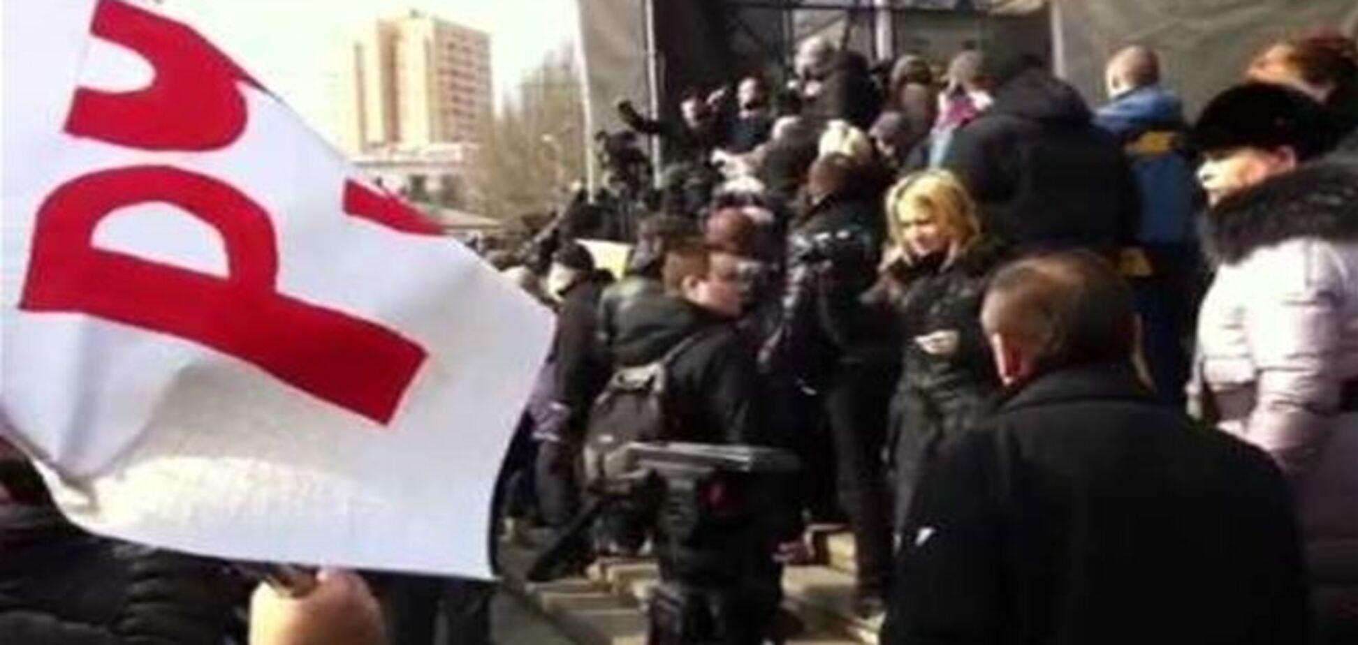 В Донецке пророссийский митинг перерос в драку