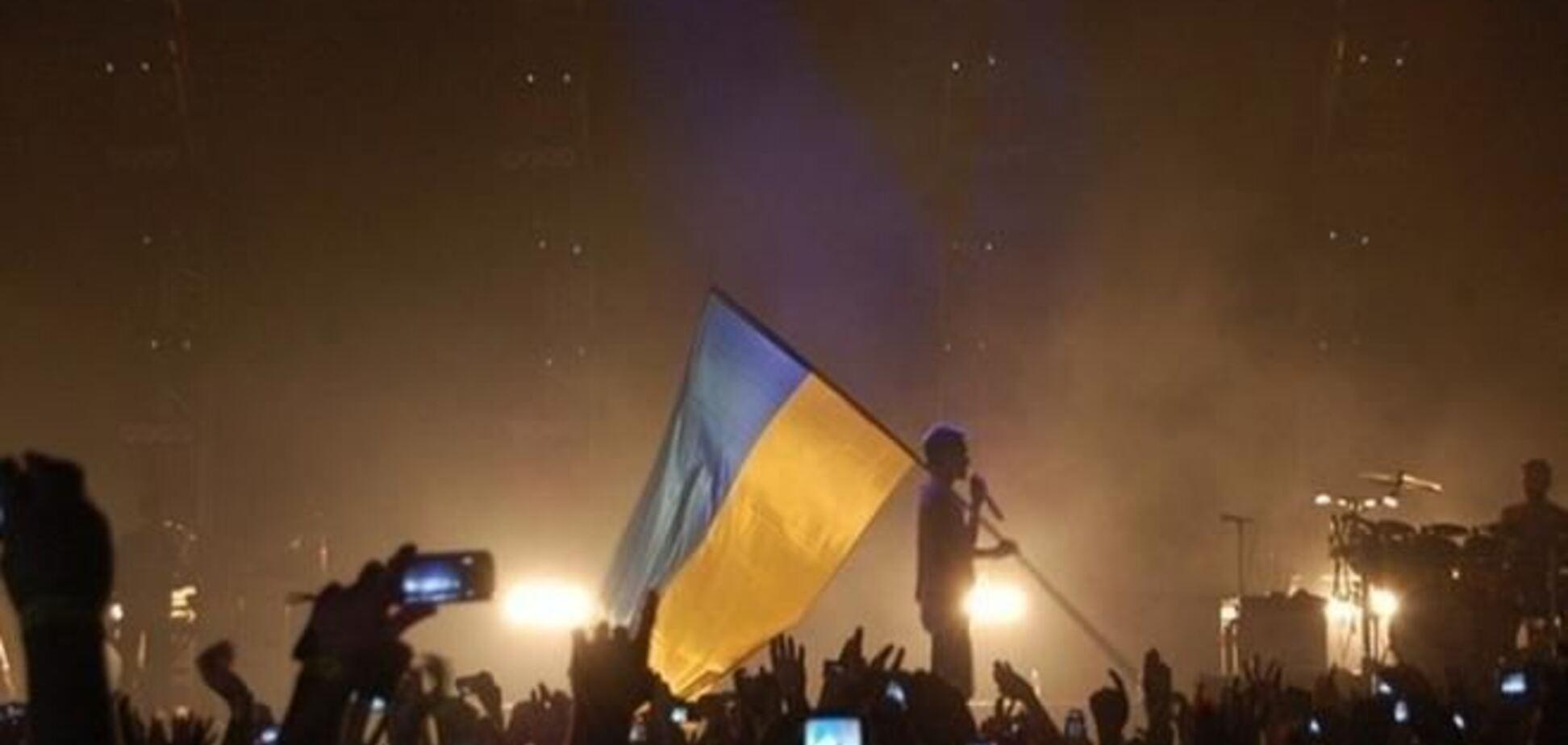 Джаред Лето в Києві розмахував прапором України