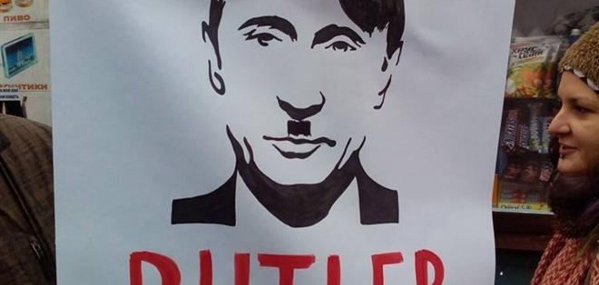 Участники веча на Майдане сравнили Путина с Гитлером
