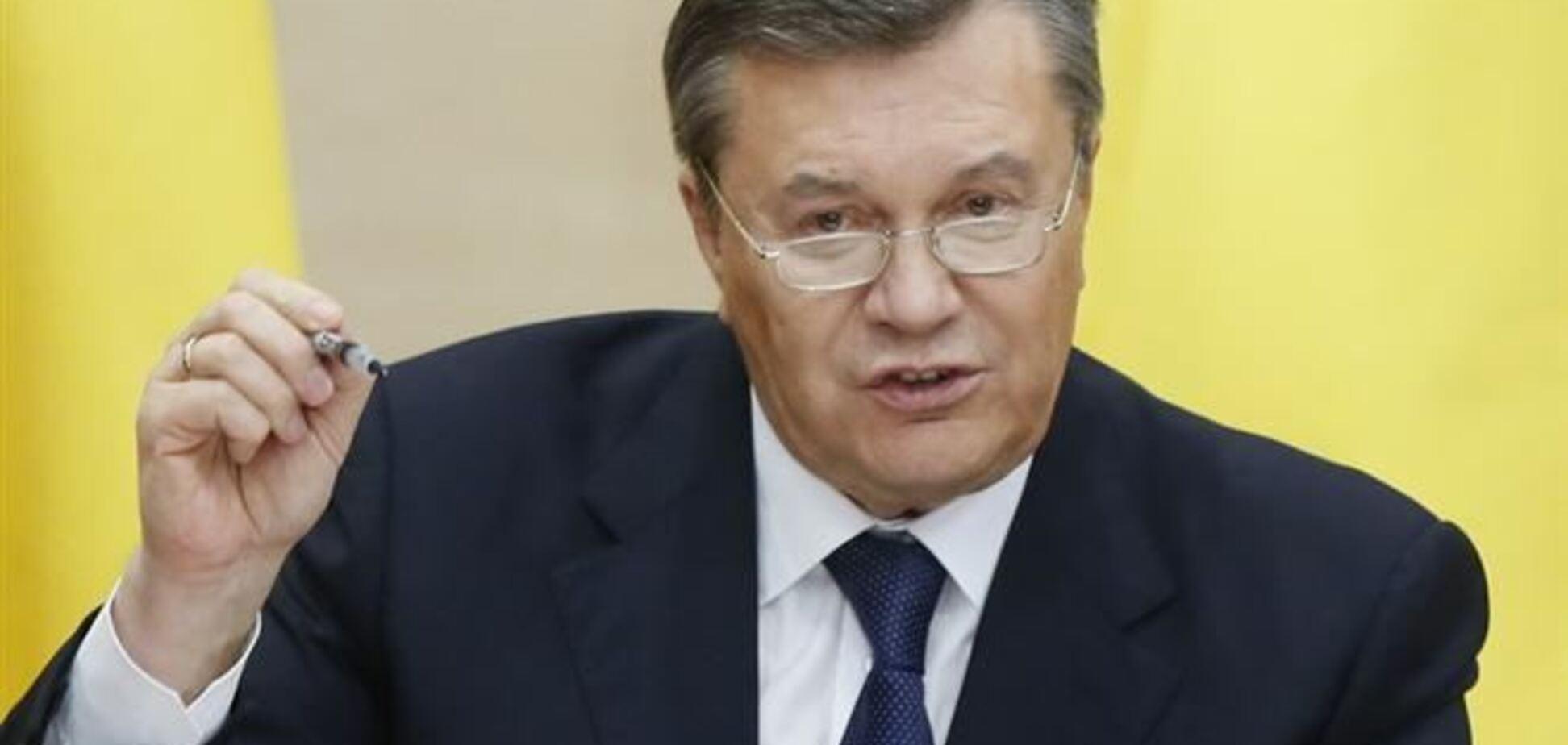 Янукович грозится наказать виновных в развале Украины