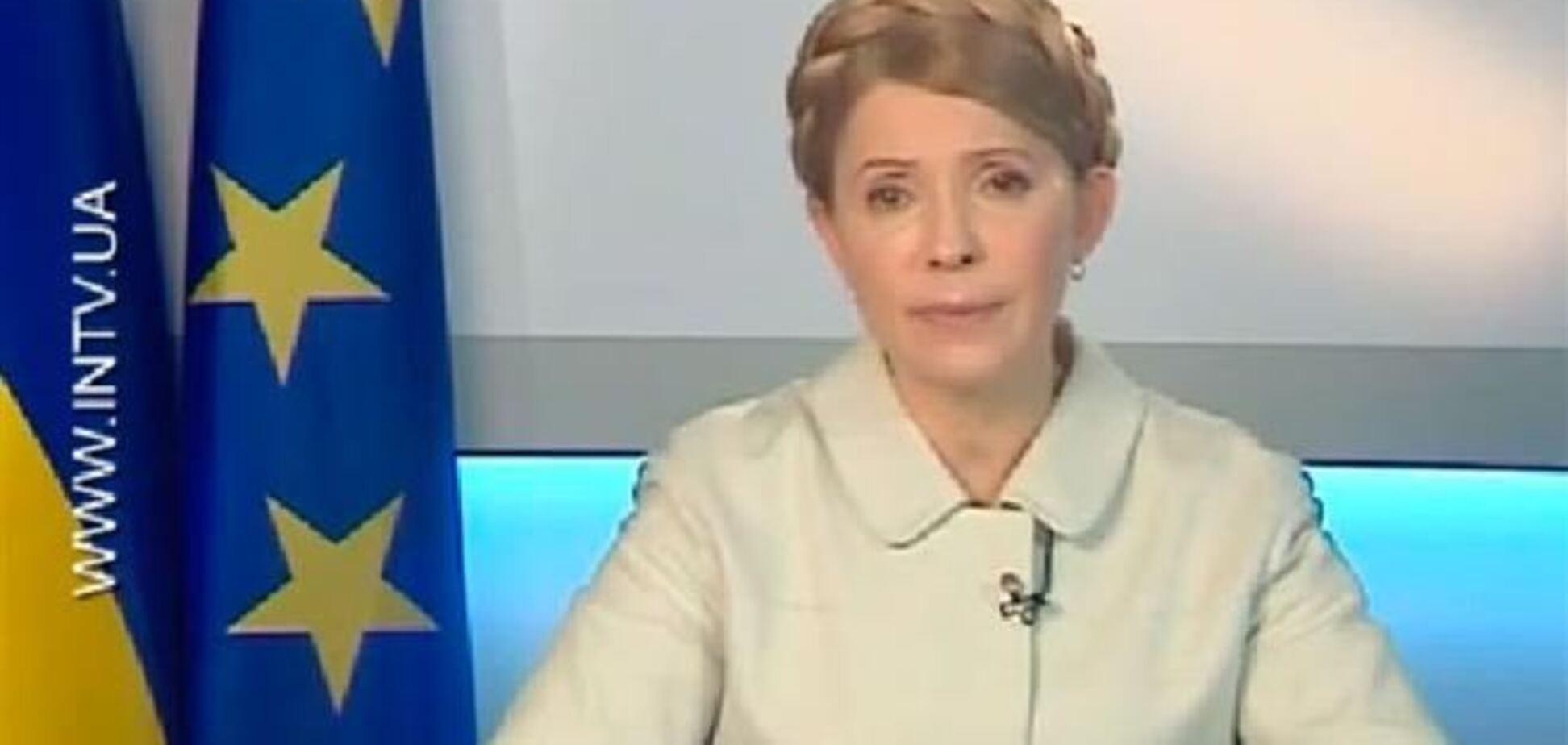 После тюрьмы Тимошенко уже выглядит свежей и здоровой
