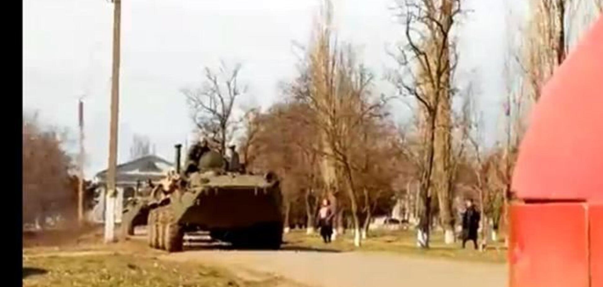 Российские БТРы были замечены в Херсонской области
