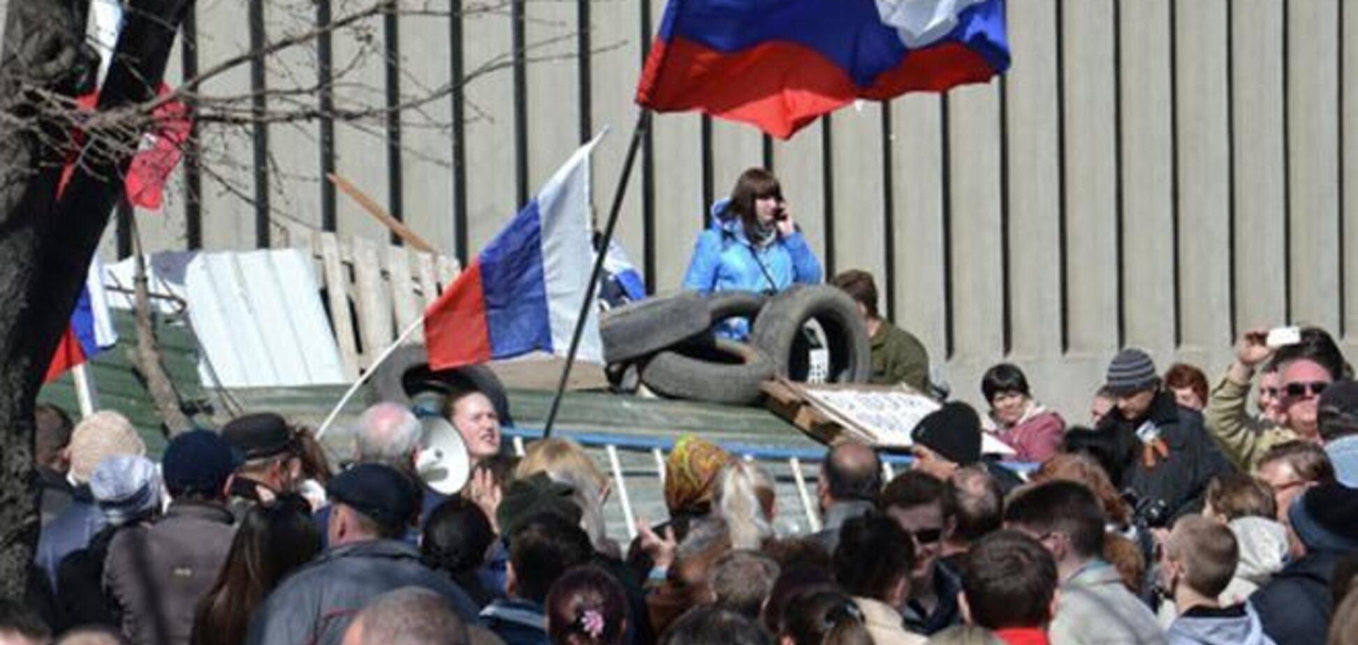 Беспорядки в Славянске: вооруженные сепаратисты против горожан