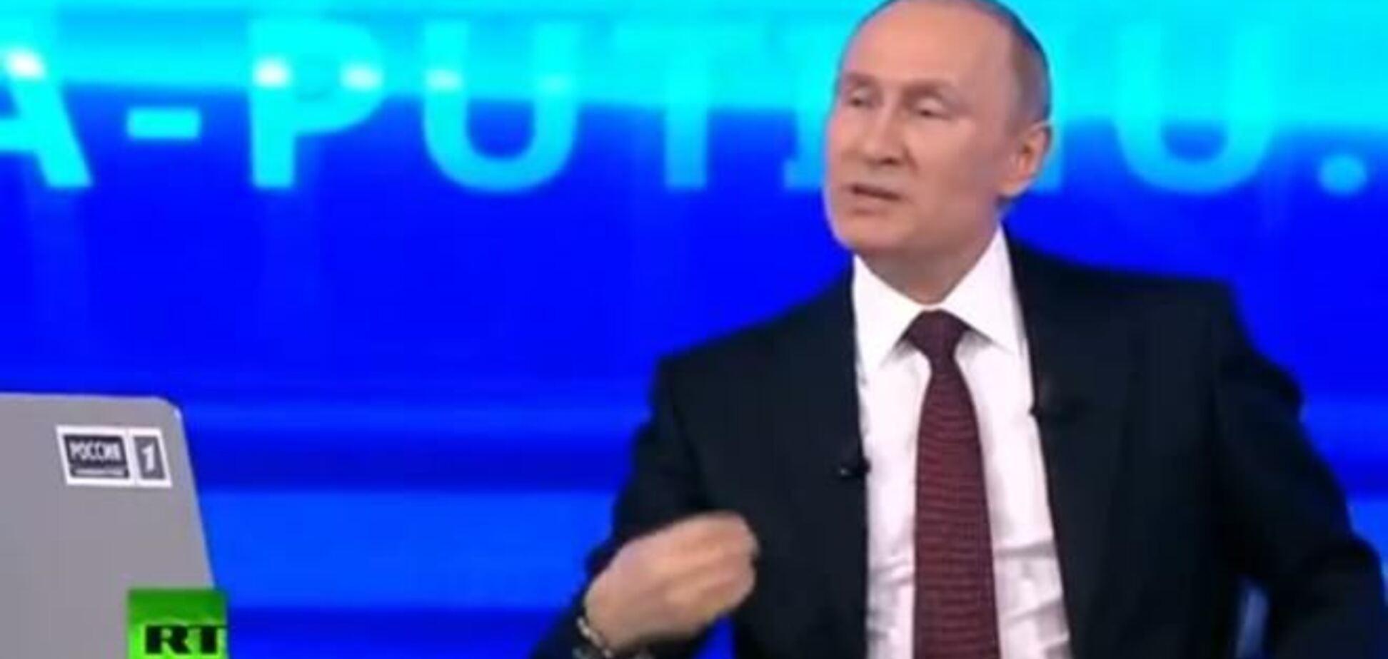 Путин повторяет крымский тезис: на востоке Украины нет подразделений РФ, чушь все это