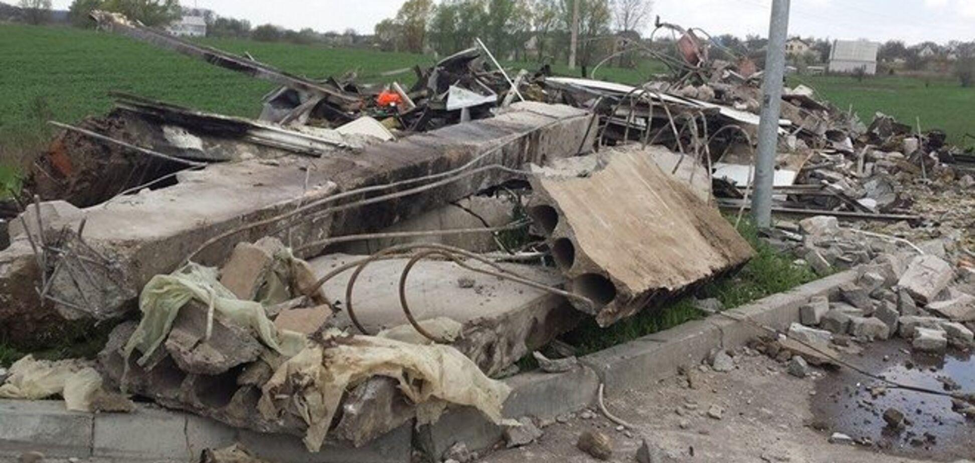 Эпицентр взрыва на АЗС под Переяслав-Хмельницком находился в подвале
