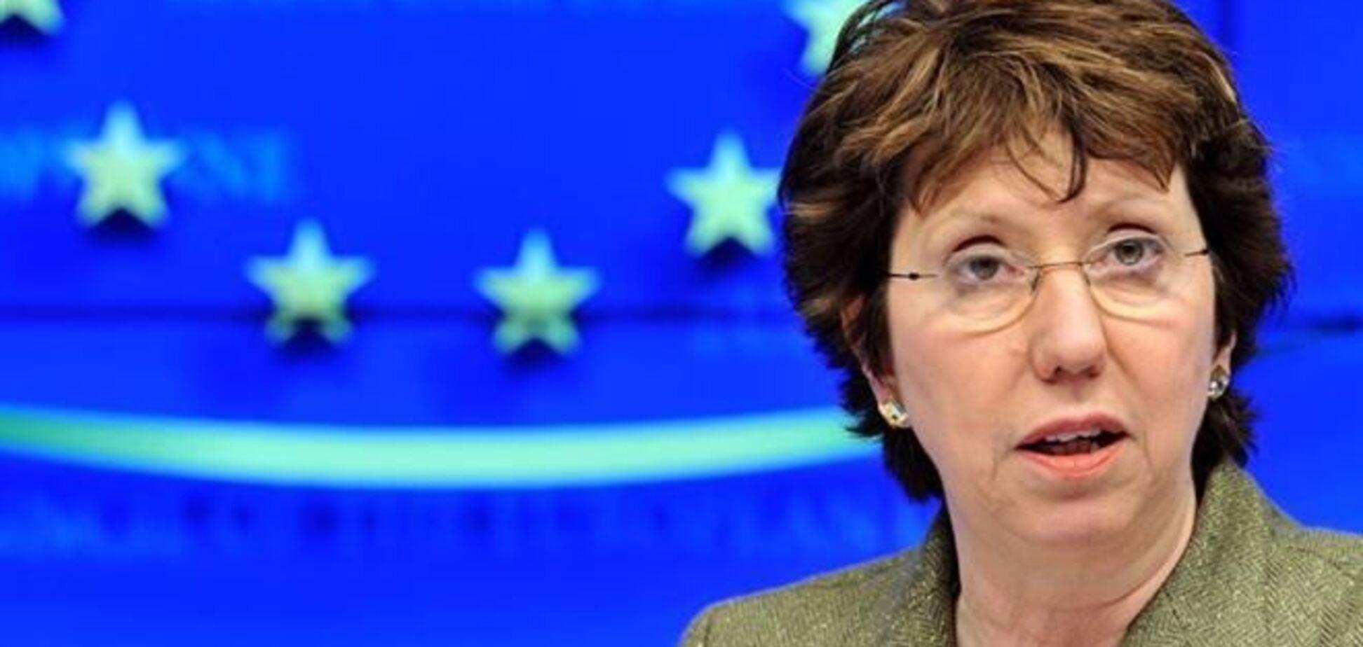 Ештон заявила, що для підтримки України потрібно перейти до 'конкретних практичних дій'