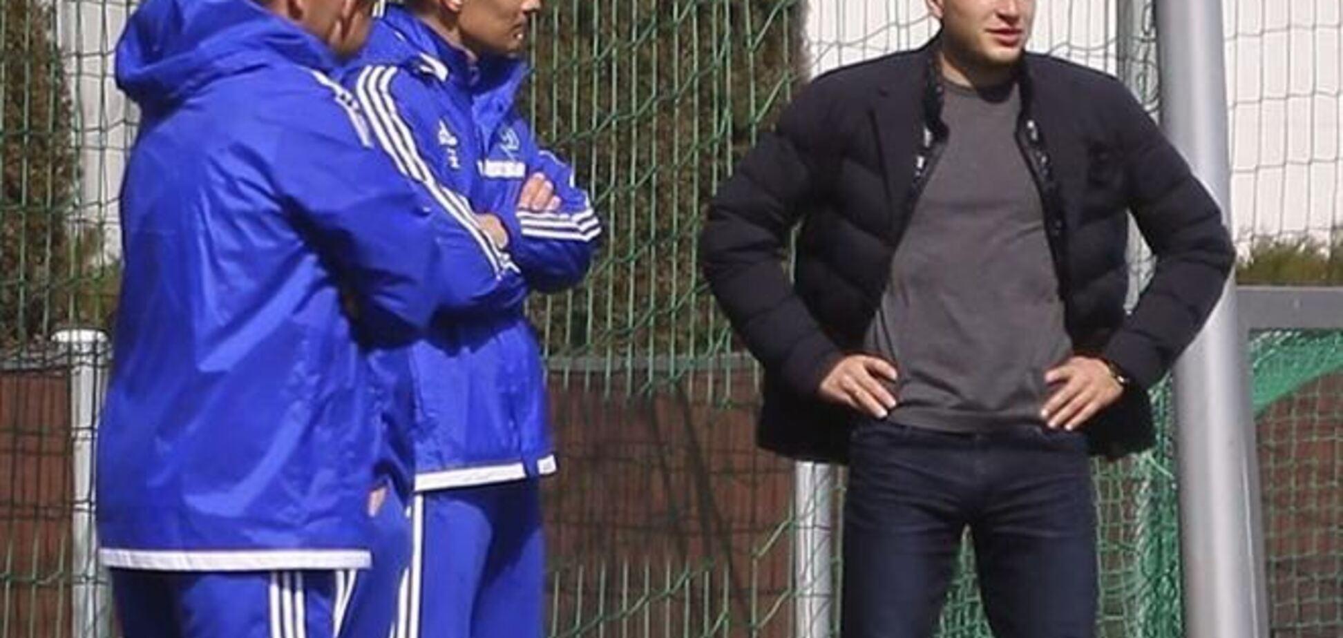 Гусев посетил тренировку 'Динамо'