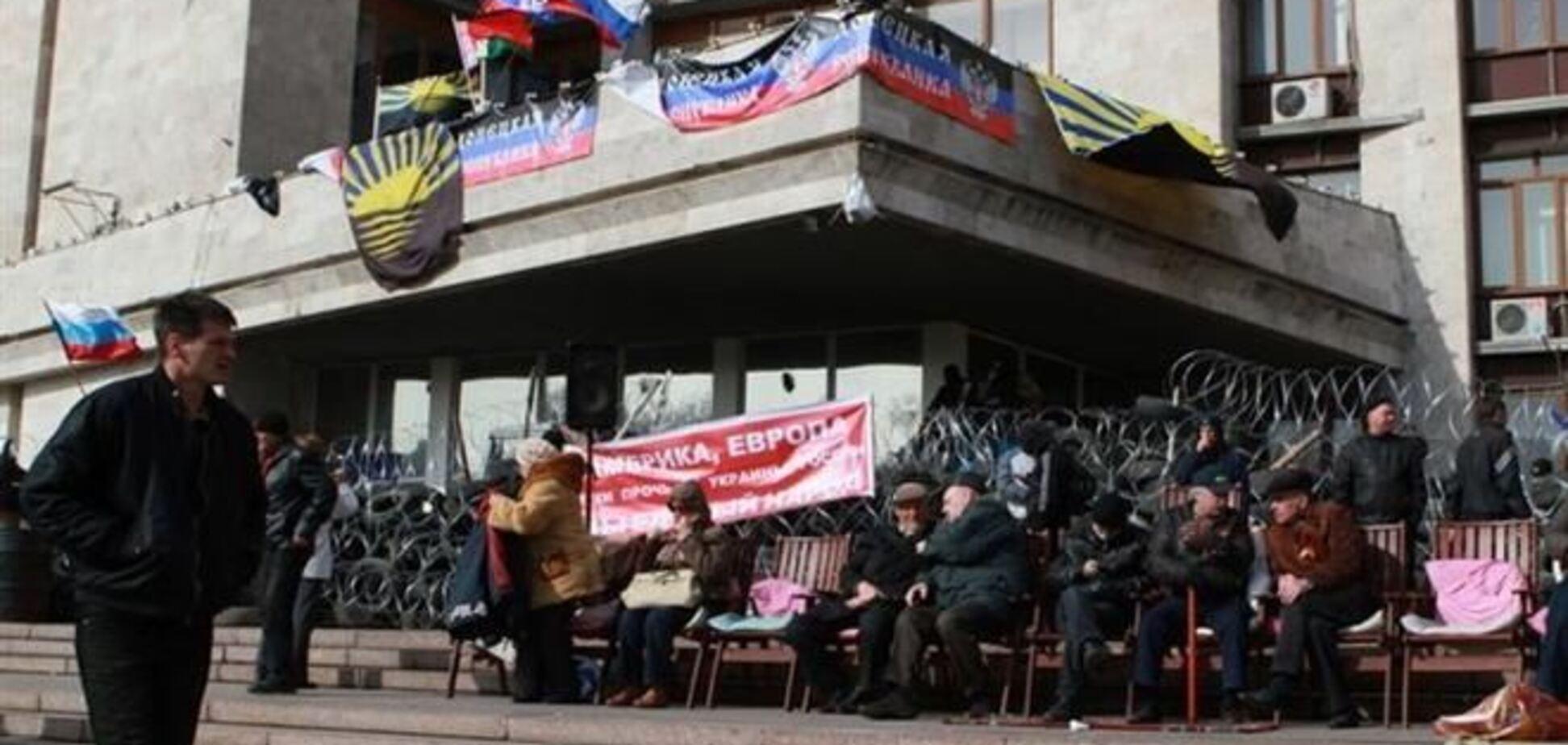 Сепаратисты объявили о создании Донецкой народной республики и о референдуме
