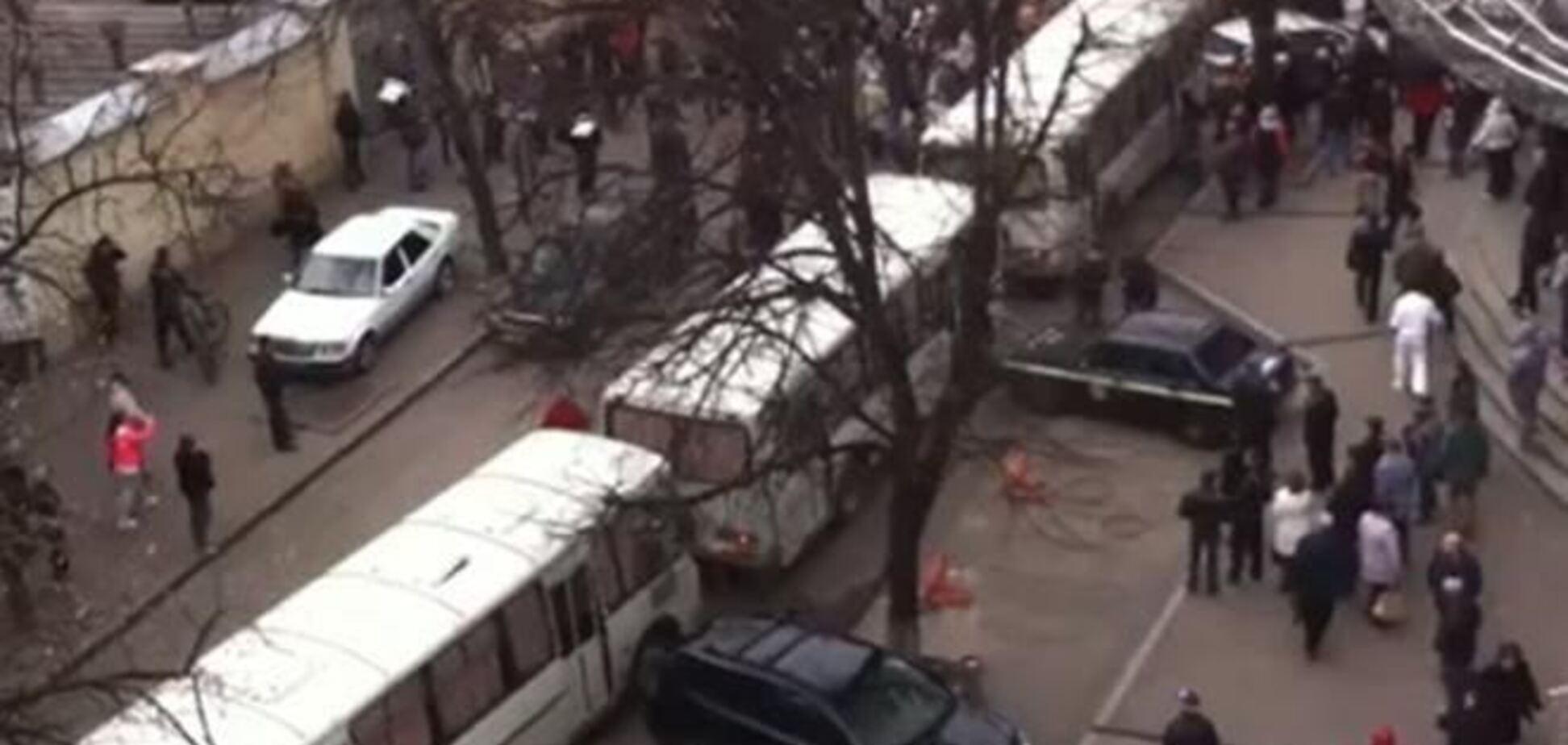 МВД начало расследование нападения сепаратистами на милицейский автобус