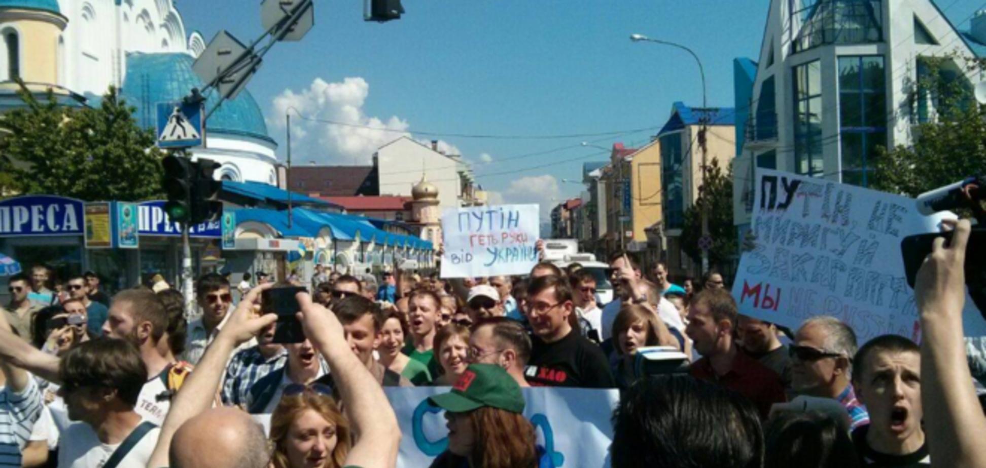 В Ужгороді співали 'Путін - х ** ло', а Львів взагалі проігнорував Першотравень