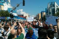 В Ужгороде пели 'Путин - х**ло', а Львов вообще проигнорировал Первомай