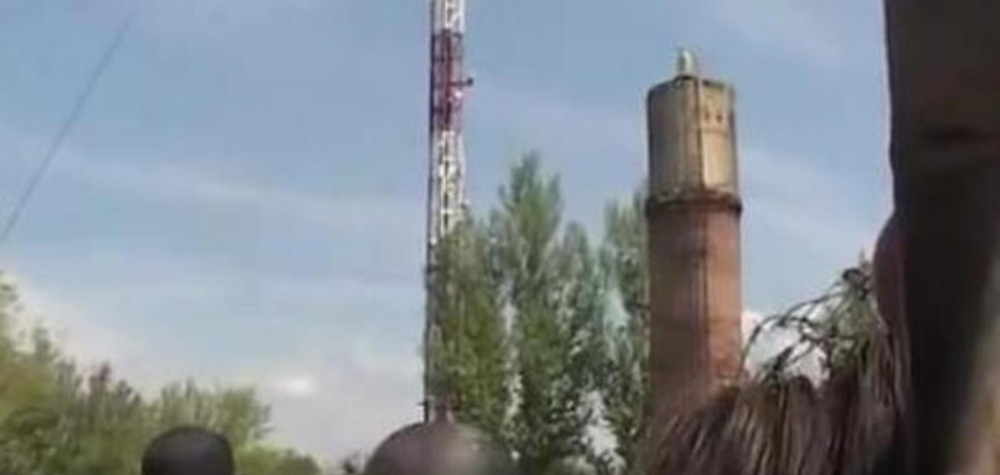 Террористы cнова обстреляли из минометов телевышку в Славянске