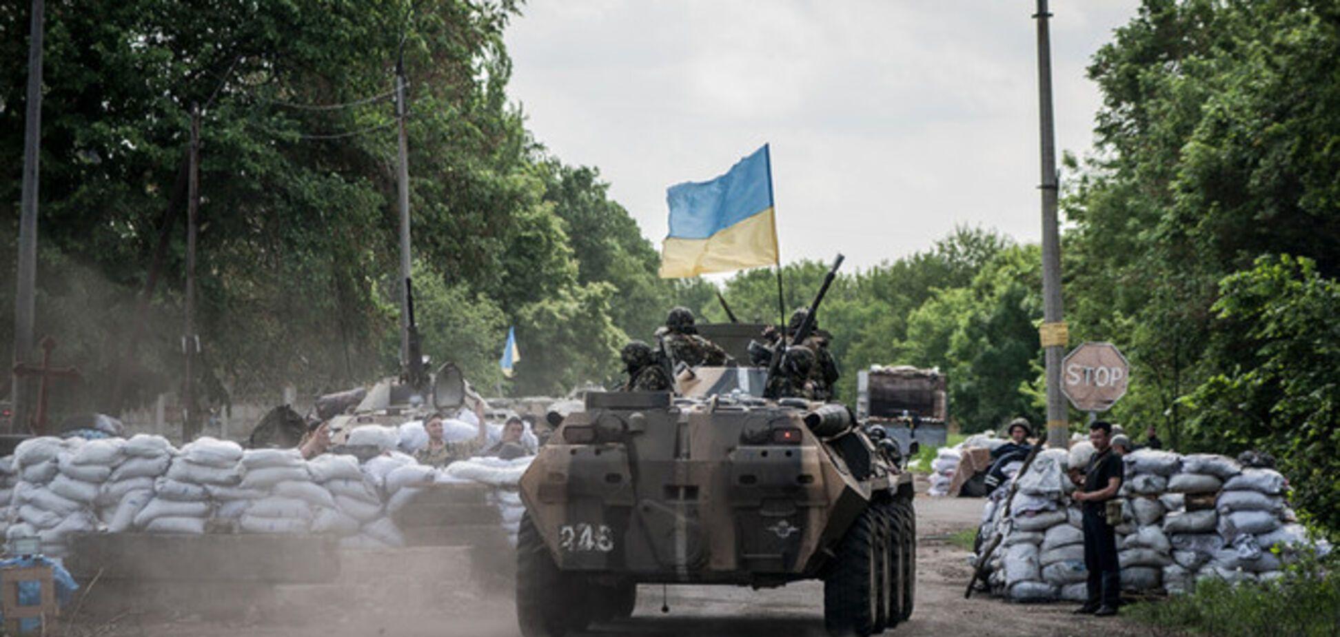 Во время АТО взят под контроль один из районов Донбасса