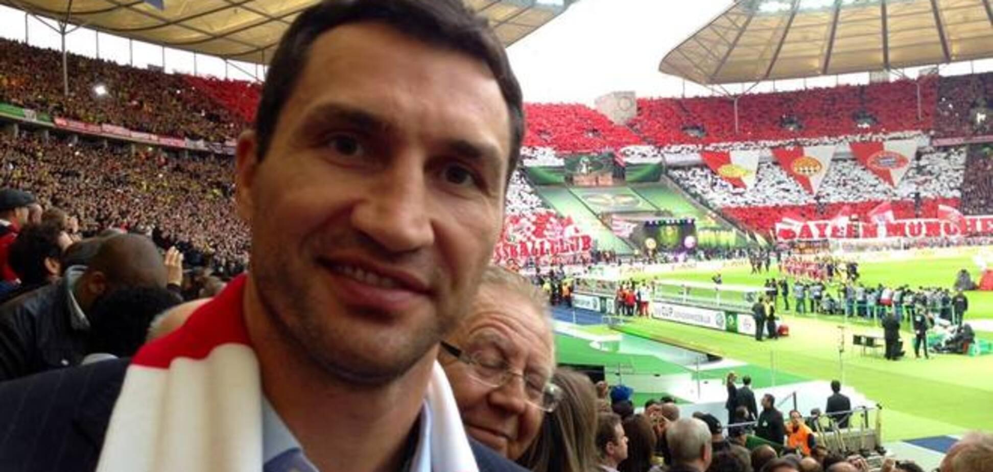 Владимир Кличко поддержал 'Баварию' в финале Кубка Германии
