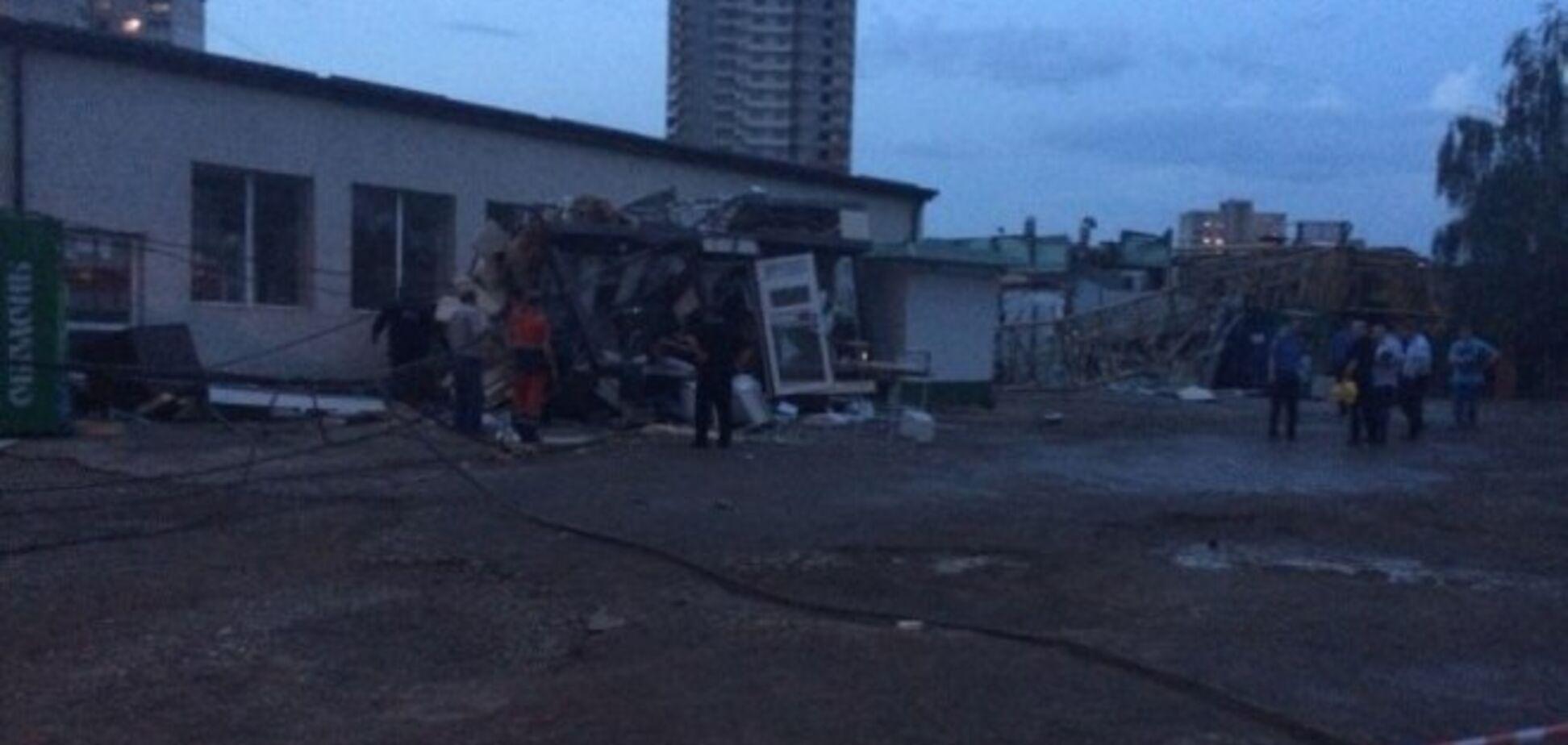В Харькове рухнул строительный кран, погибли три человека