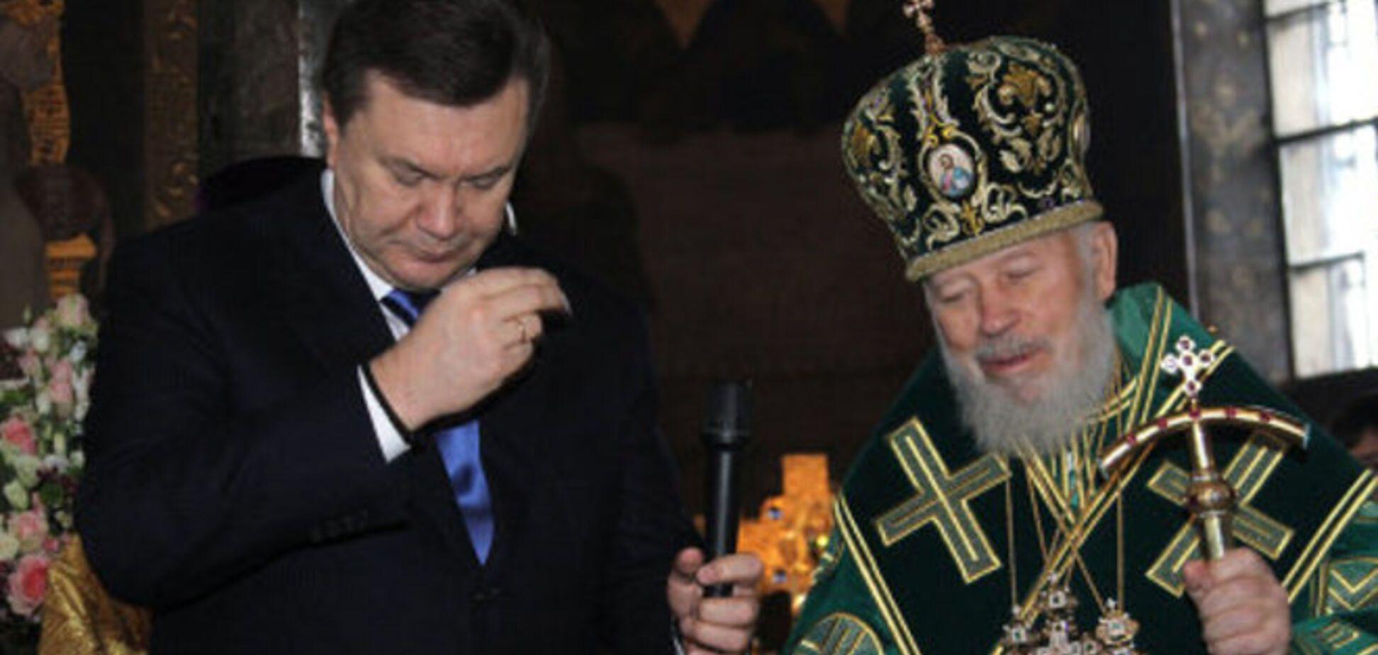 На Януковича завели дело за давление на митрополита Владимира