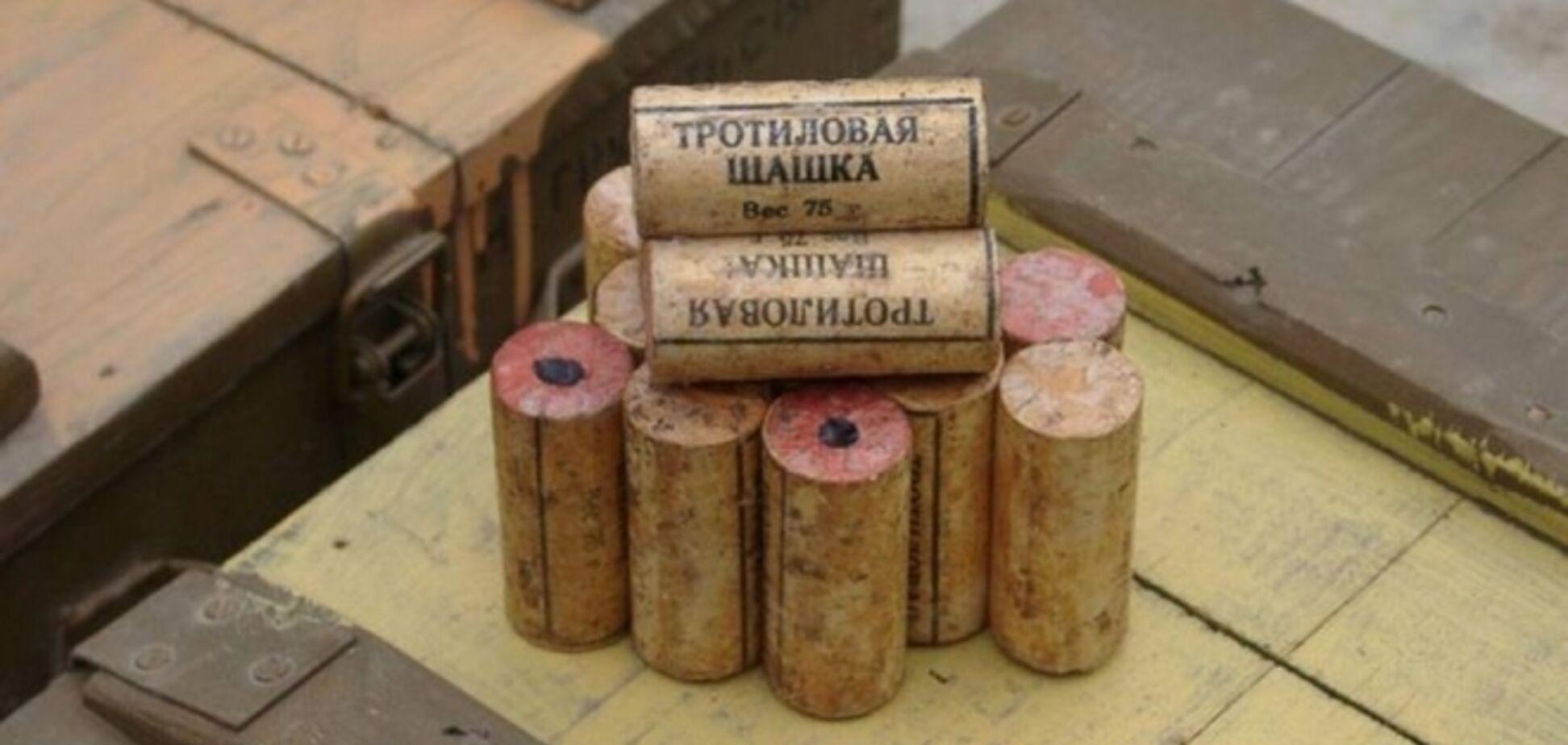 На Луганщине террористы похитили у спасателей 75 кг тротила