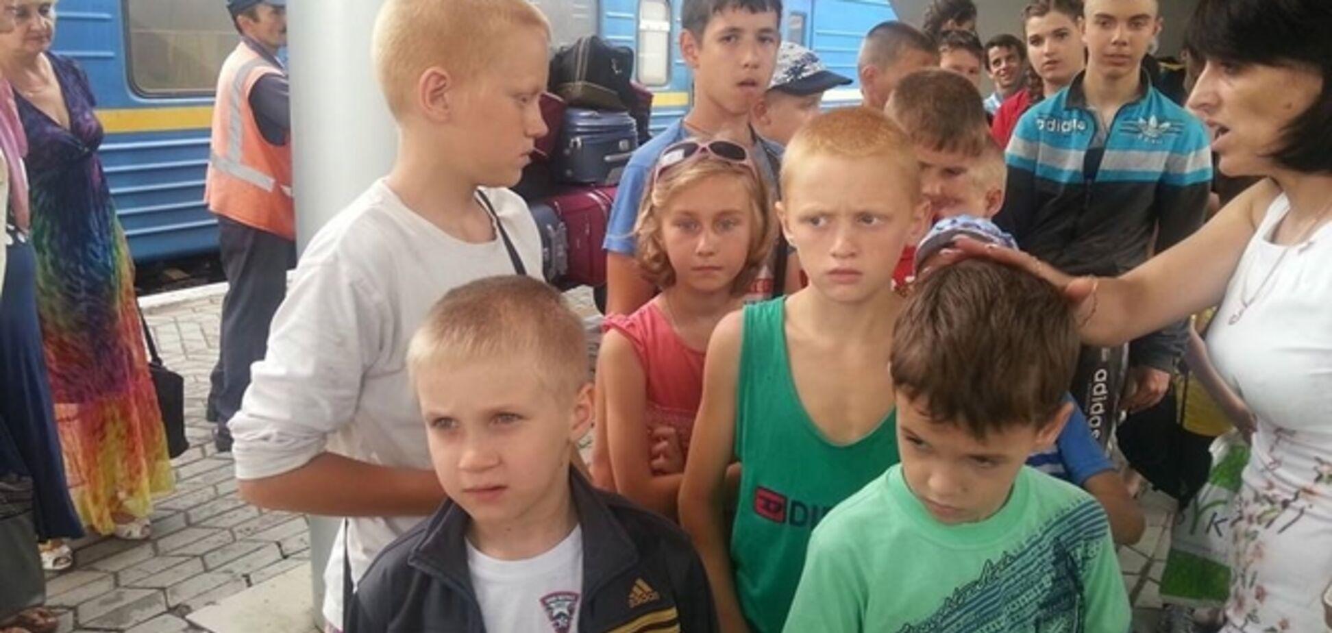 Эвакуированные из Славянска дети уже в 'Артеке'