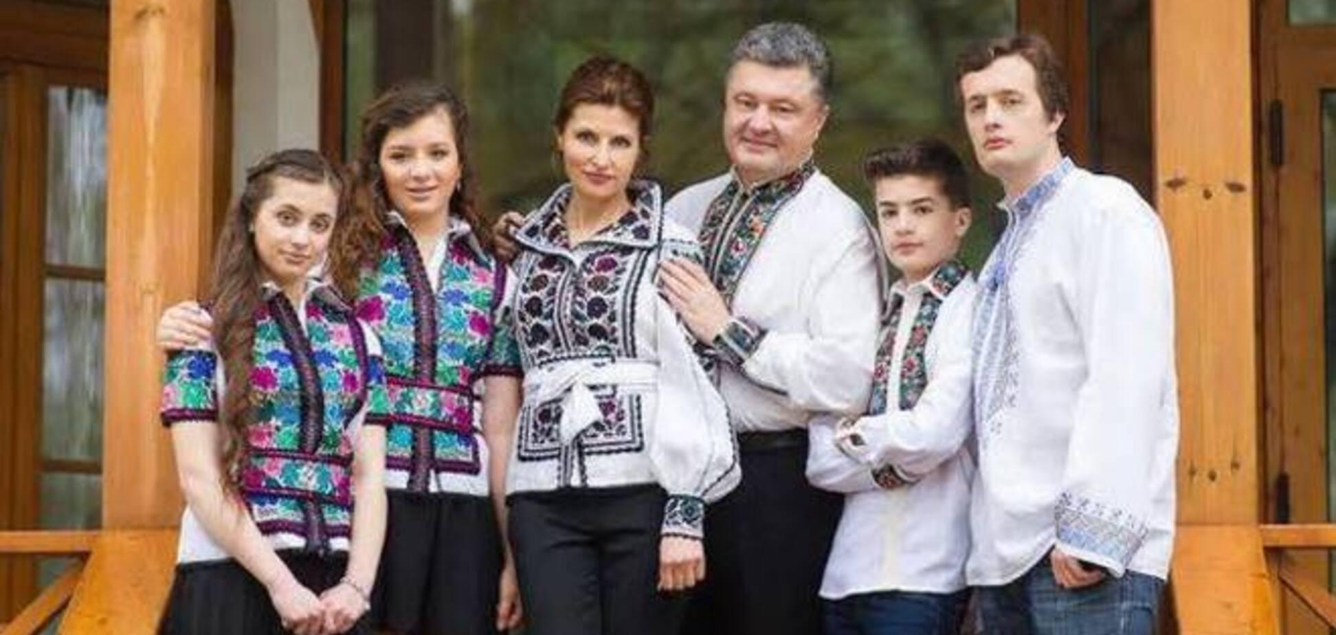 Дочки-двійнята Порошенко вчаться на дві країни відразу