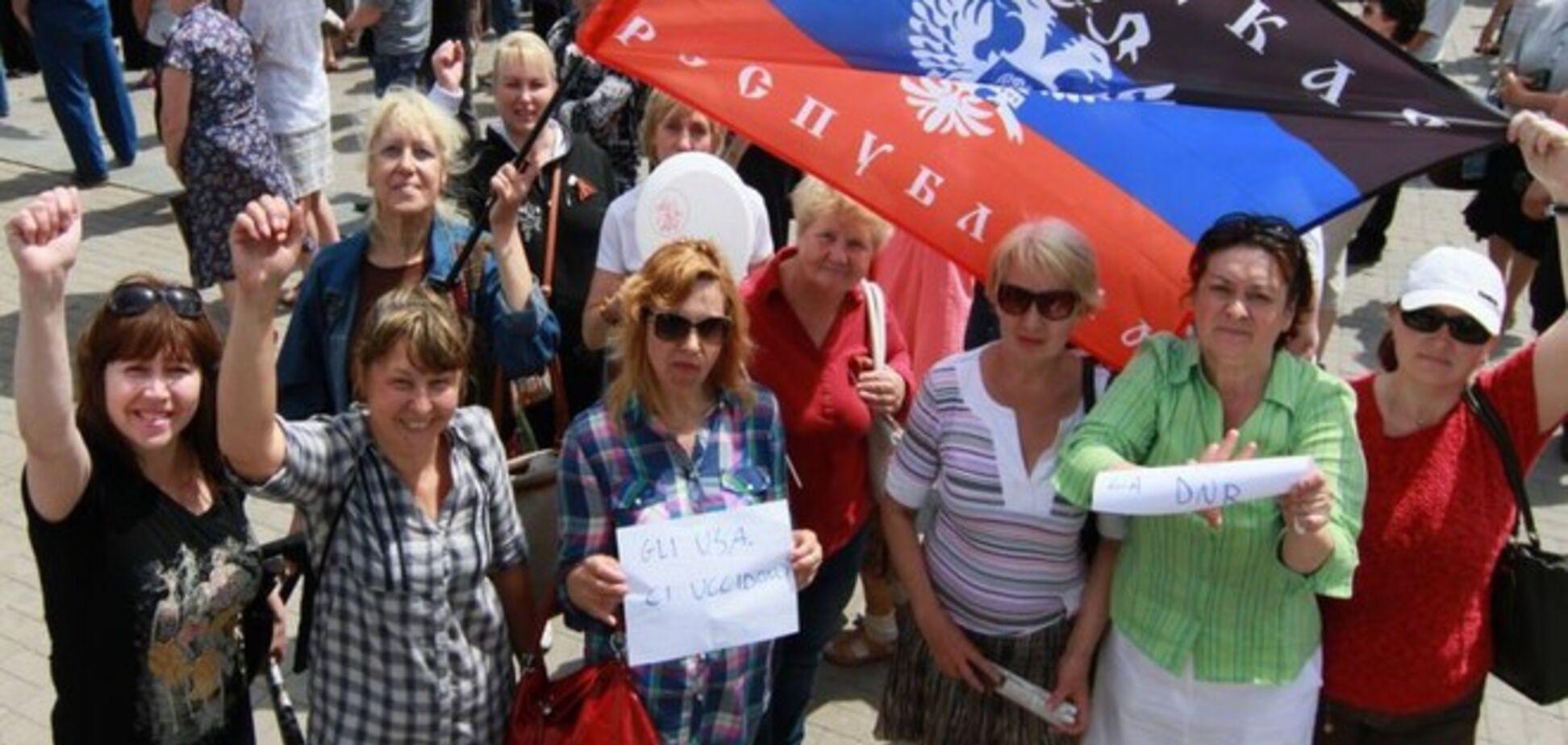 Лидеры 'ДНР' на митинге в Донецке обещали присоединение к РФ  и просили Путина ввести войска