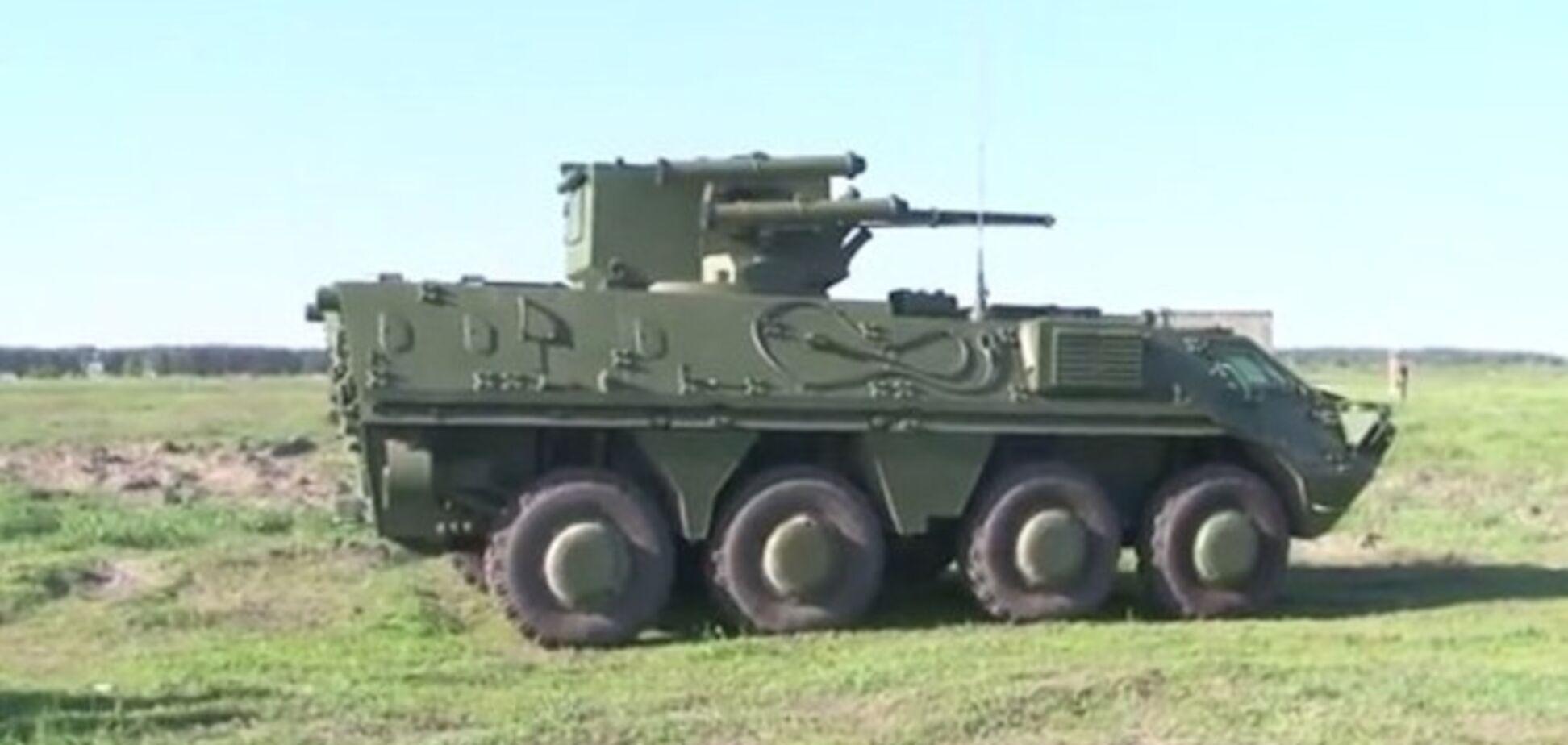 На вооружение Нацгвардии поступили новые БТРы. Видеофакт