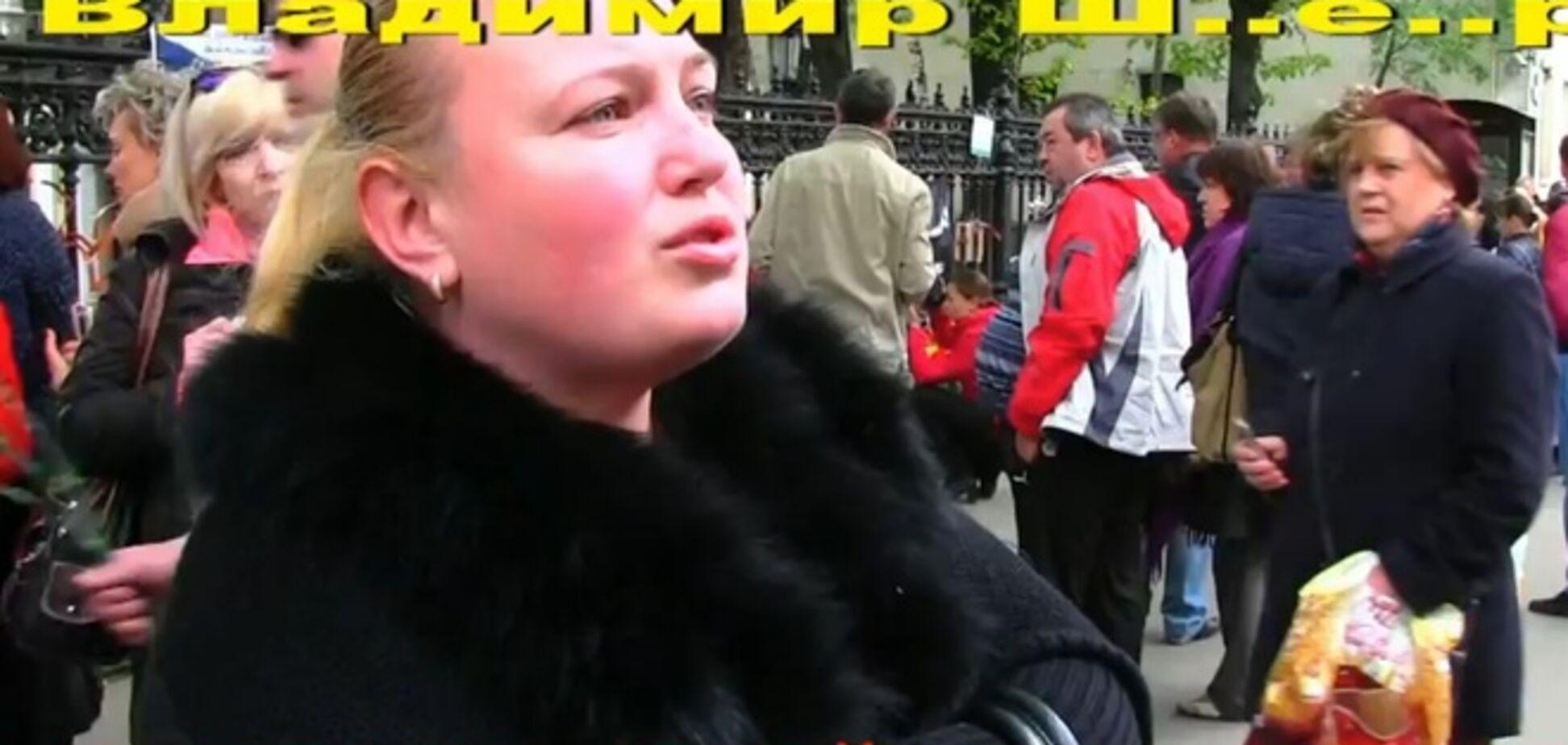 Блондинка-гастролер с акций протеста в Украине приехала в Москву спасать одесситов