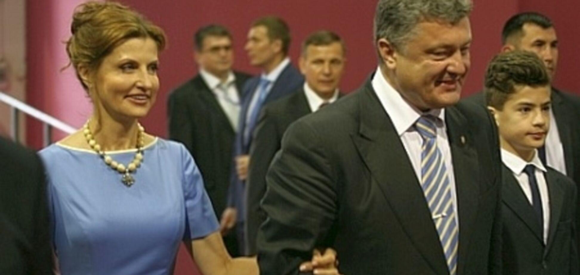 Жена Порошенко пришла на инаугурацию супруга в колье из старинного камня