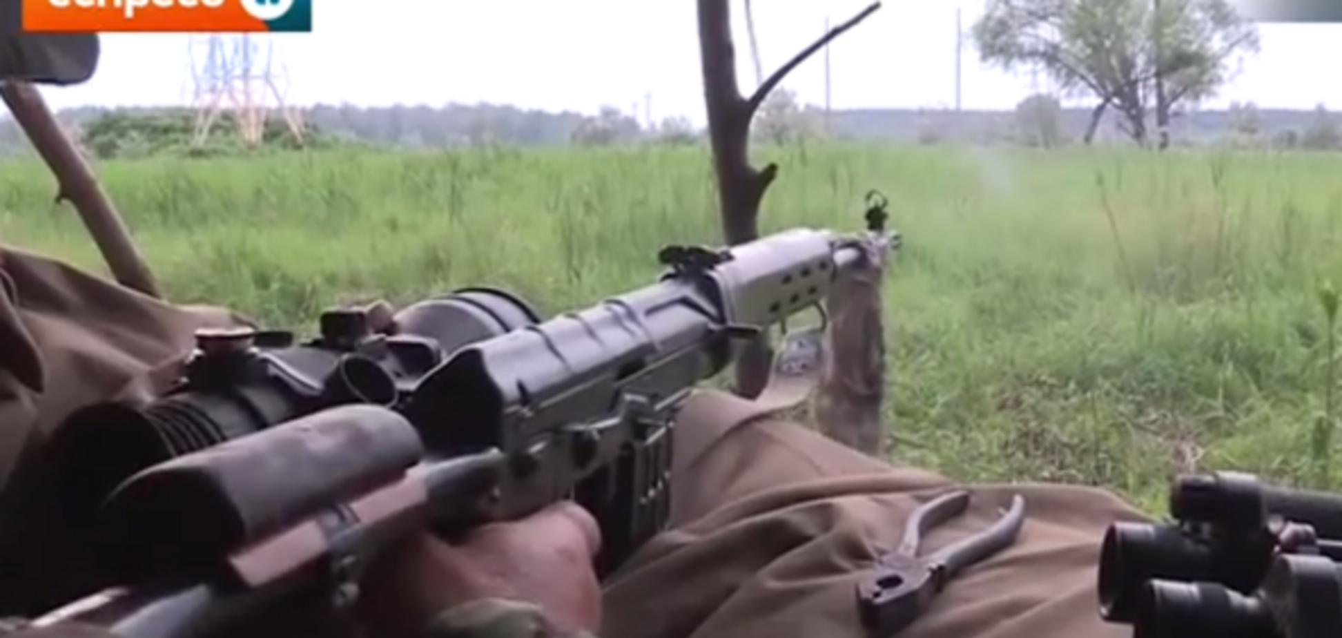 Бойцы АТО испытали новые снайперские прицелы. Видеофакт